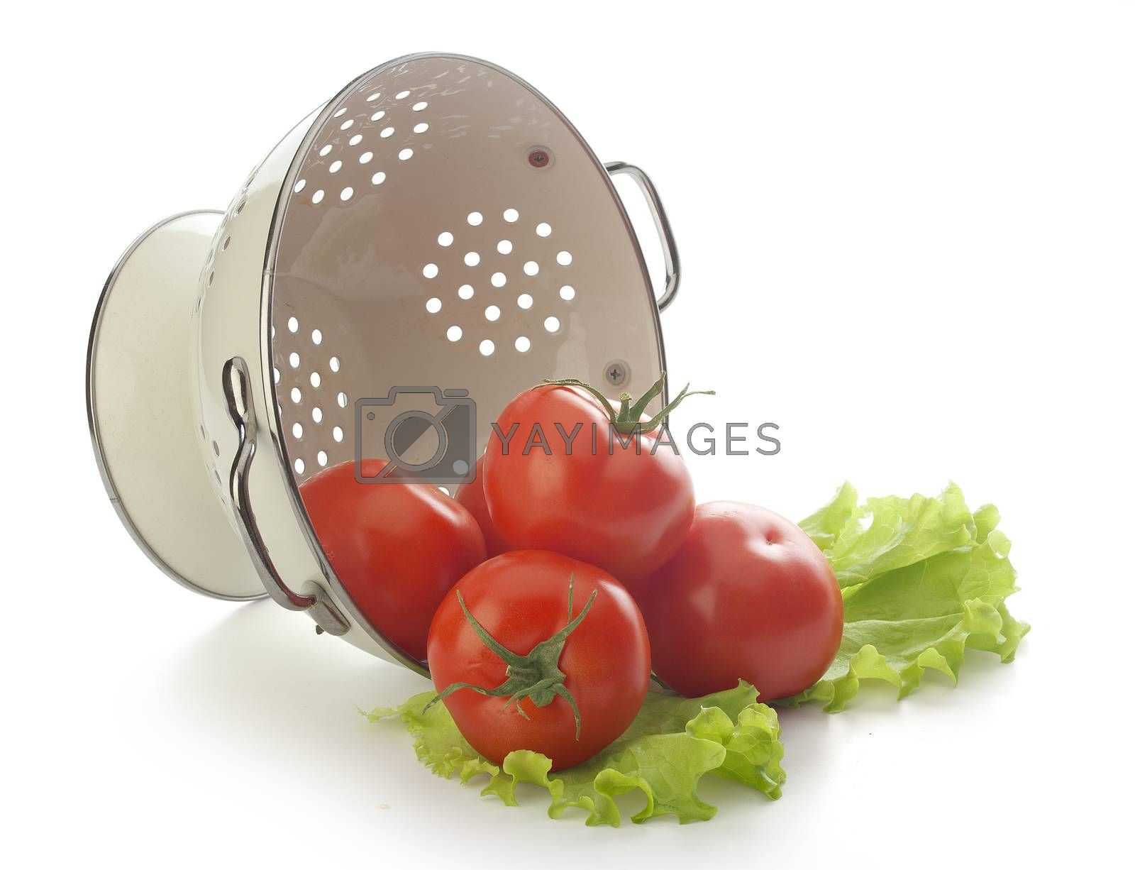 Tomatoes in the colander by Angorius