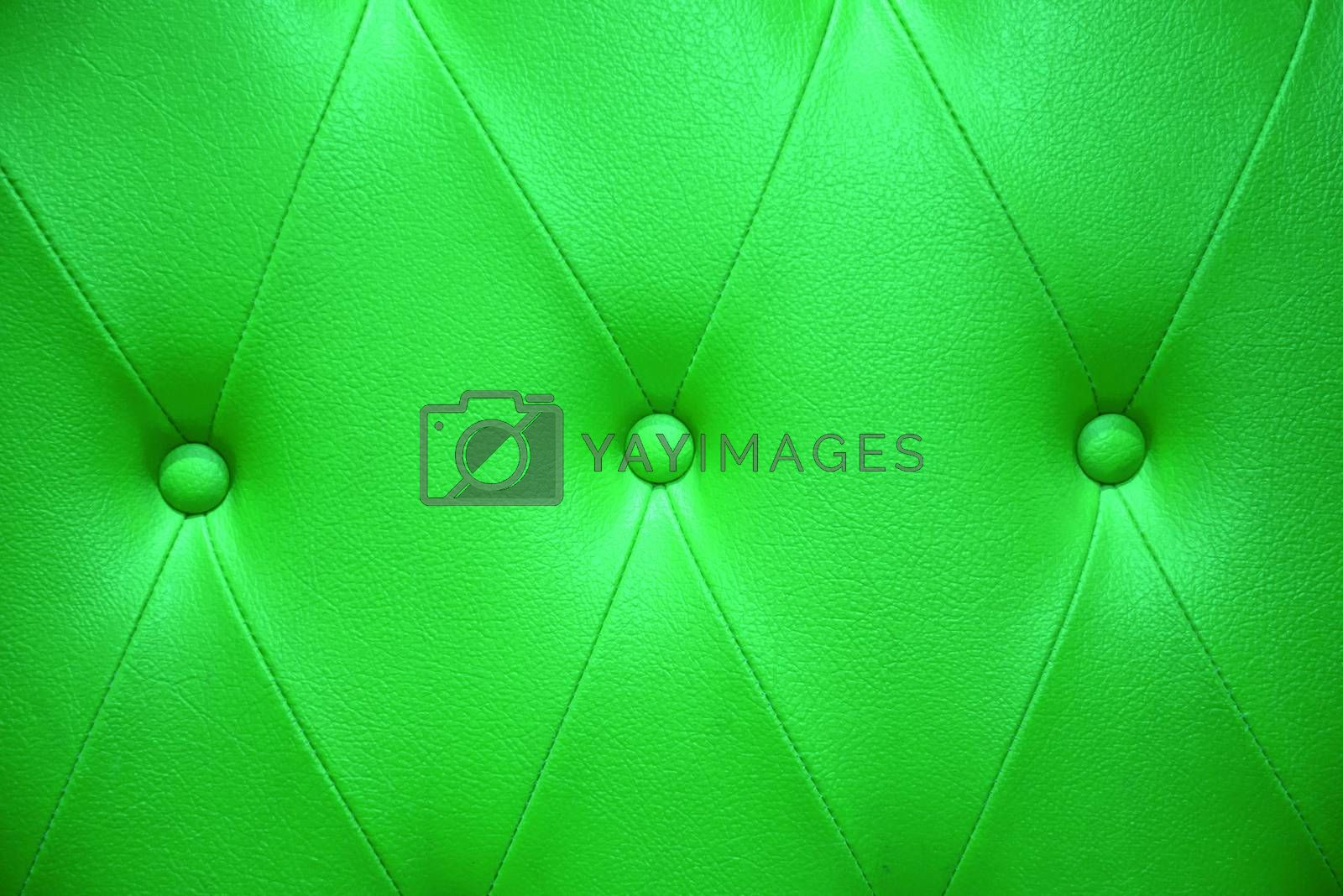 Emerald green color of upholstery leather pattern as background by jakgree