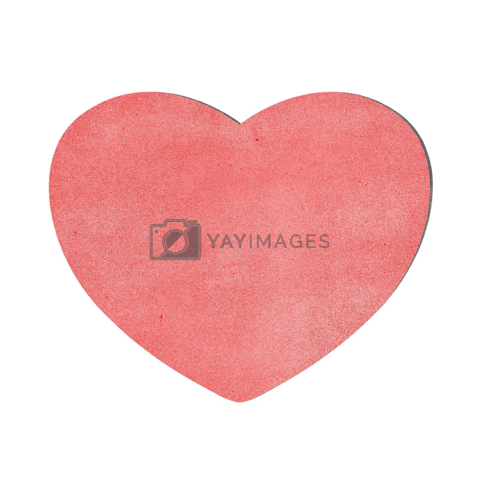 heart recycled paper on white background by jakgree