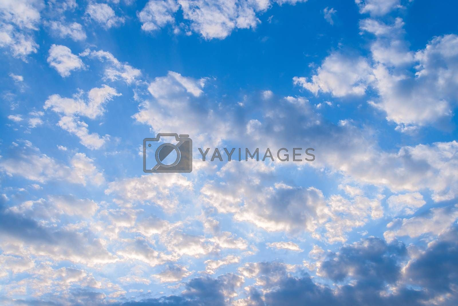 Blue Sky and Cloud Background by jakgree