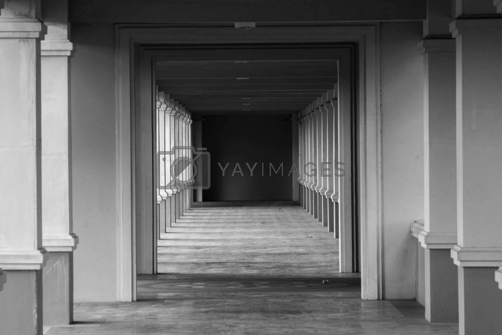 perspective view through several open doors  by jakgree