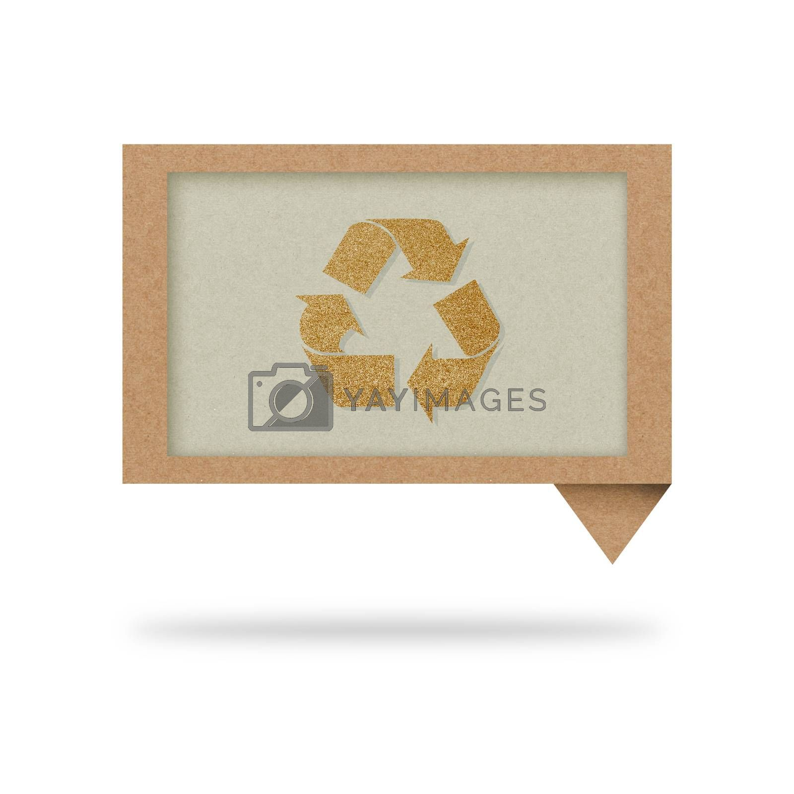 talk tag recycled paper with recycle sign by jakgree