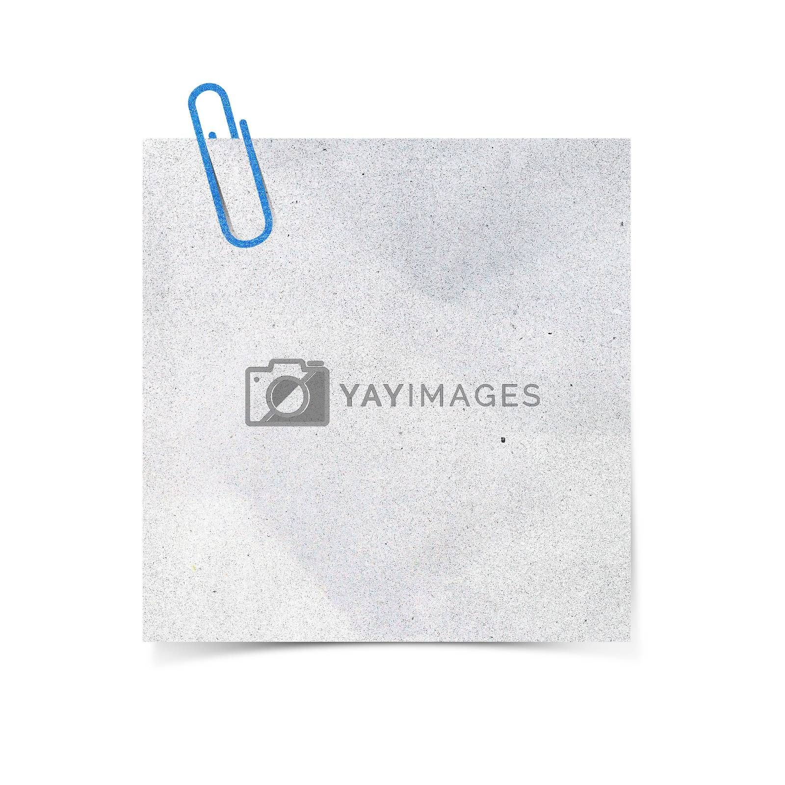Paper clip and paper on white background by jakgree