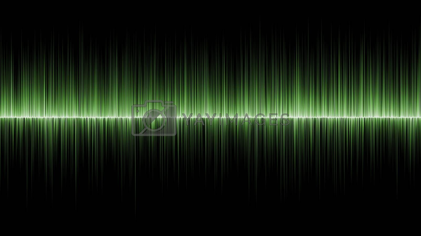 Abstract wave green colours background by jakgree