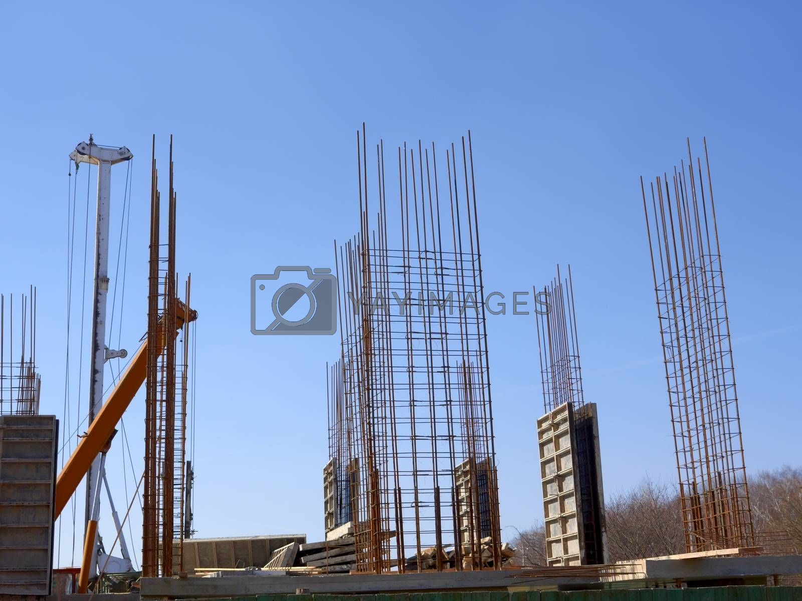 Concrete monolithic frame of new building by qiiip
