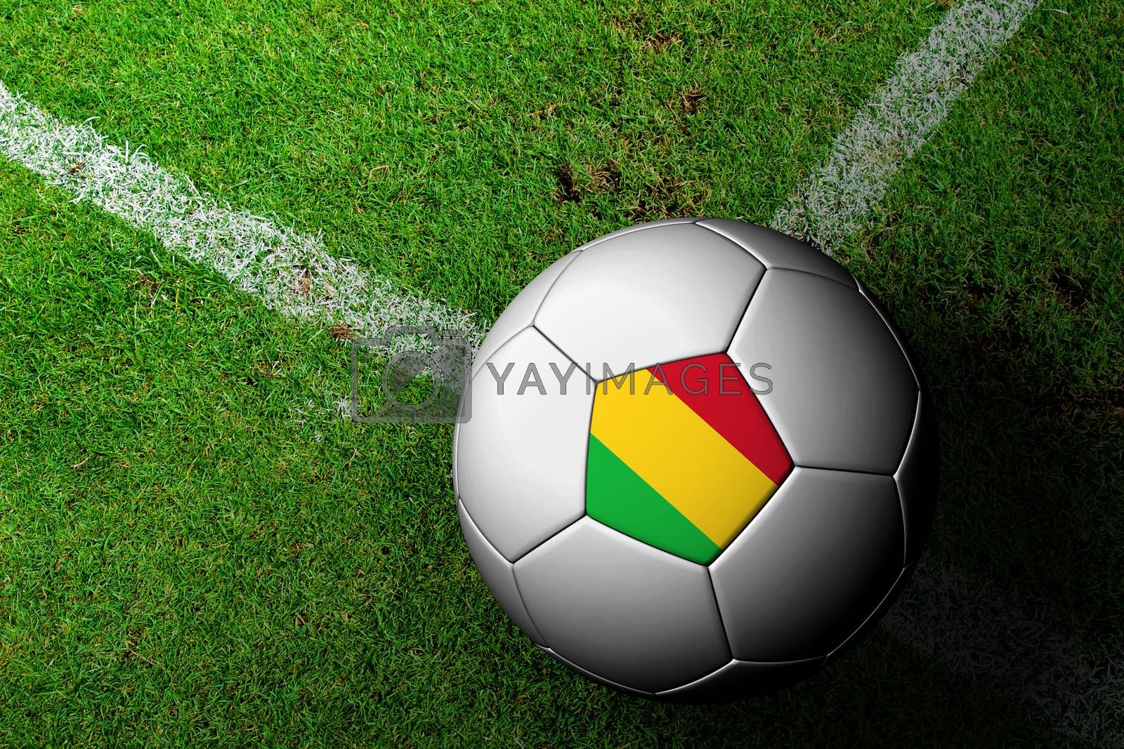 Mali Flag Pattern of a soccer ball in green grass by jakgree