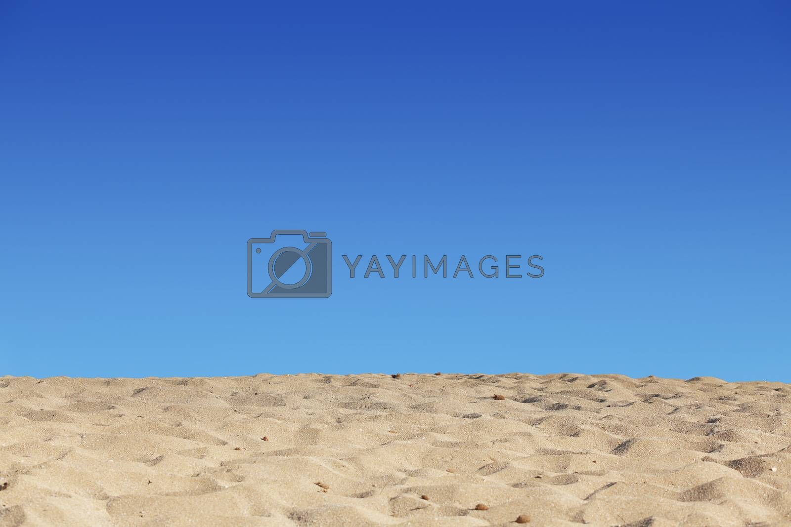 beach blue sky and sand background by mandy_godbehear