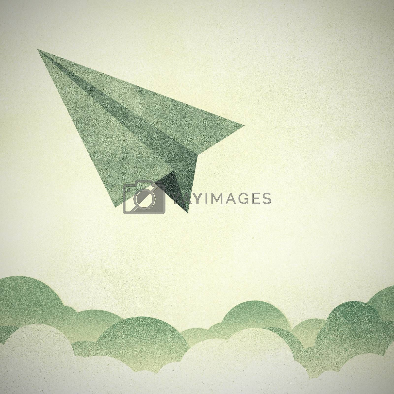 Paper Texture,Paper airplanes flying against sky and clouds by jakgree