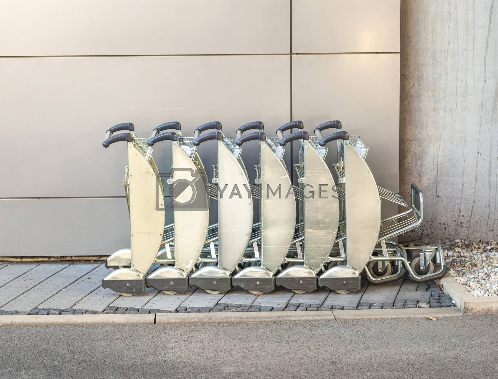 Trolley in airport by meinzahn