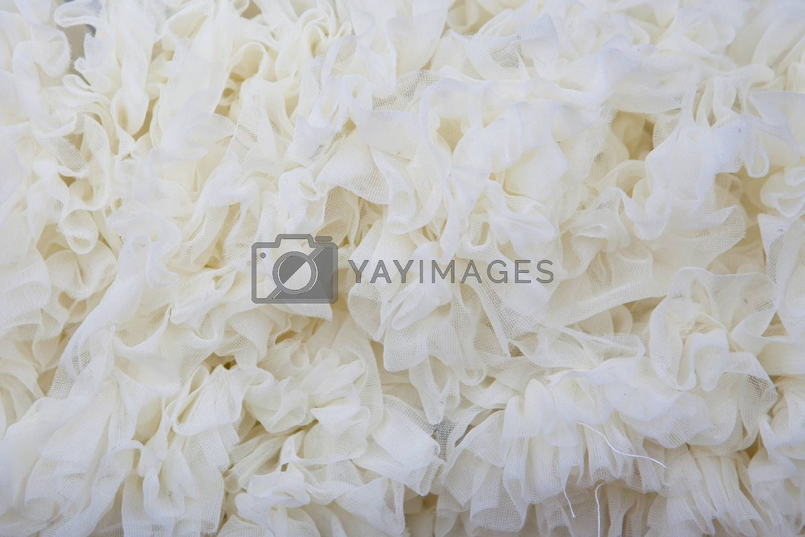 white texture net fabric background