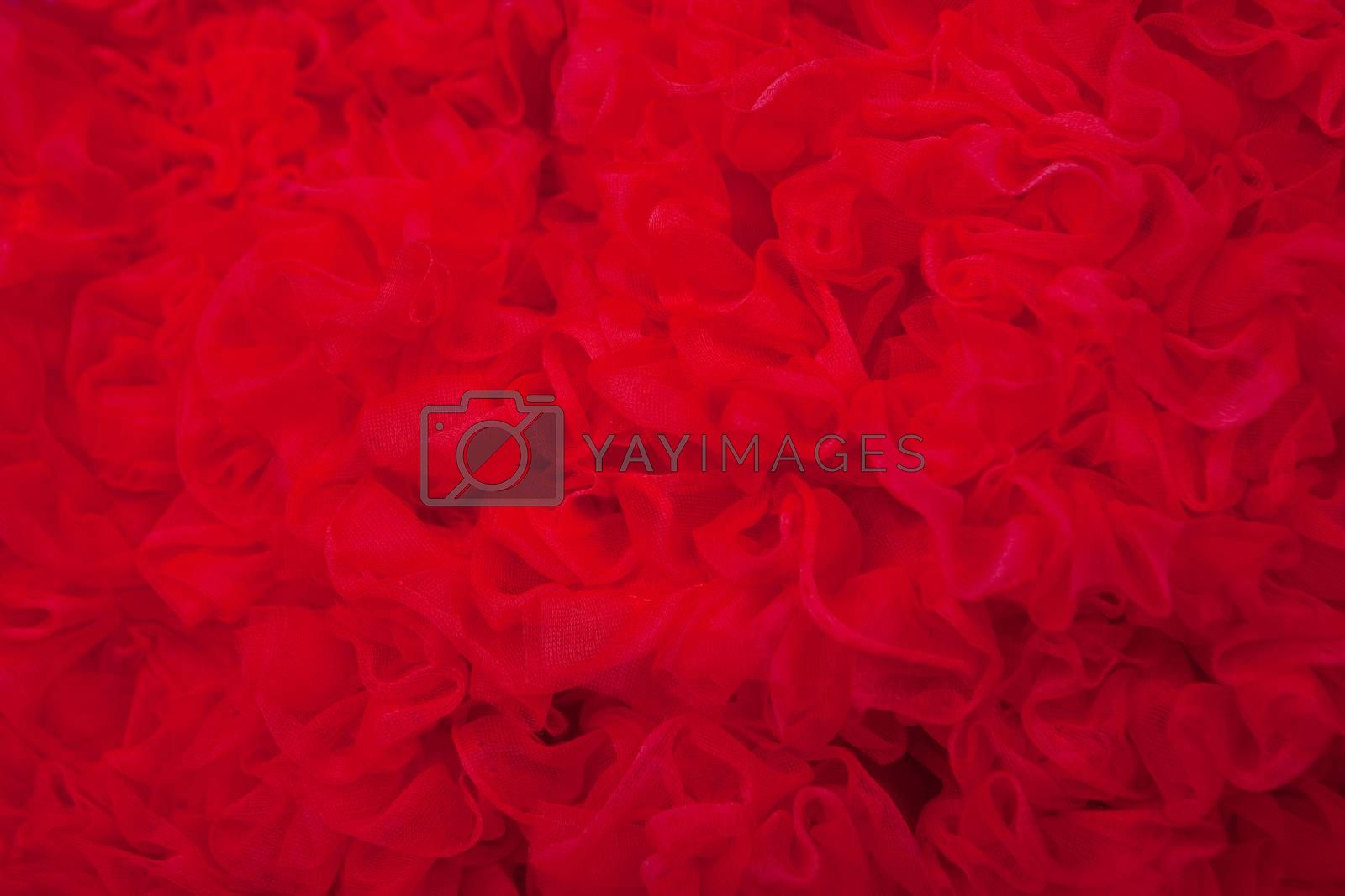 red textured net fabric  background