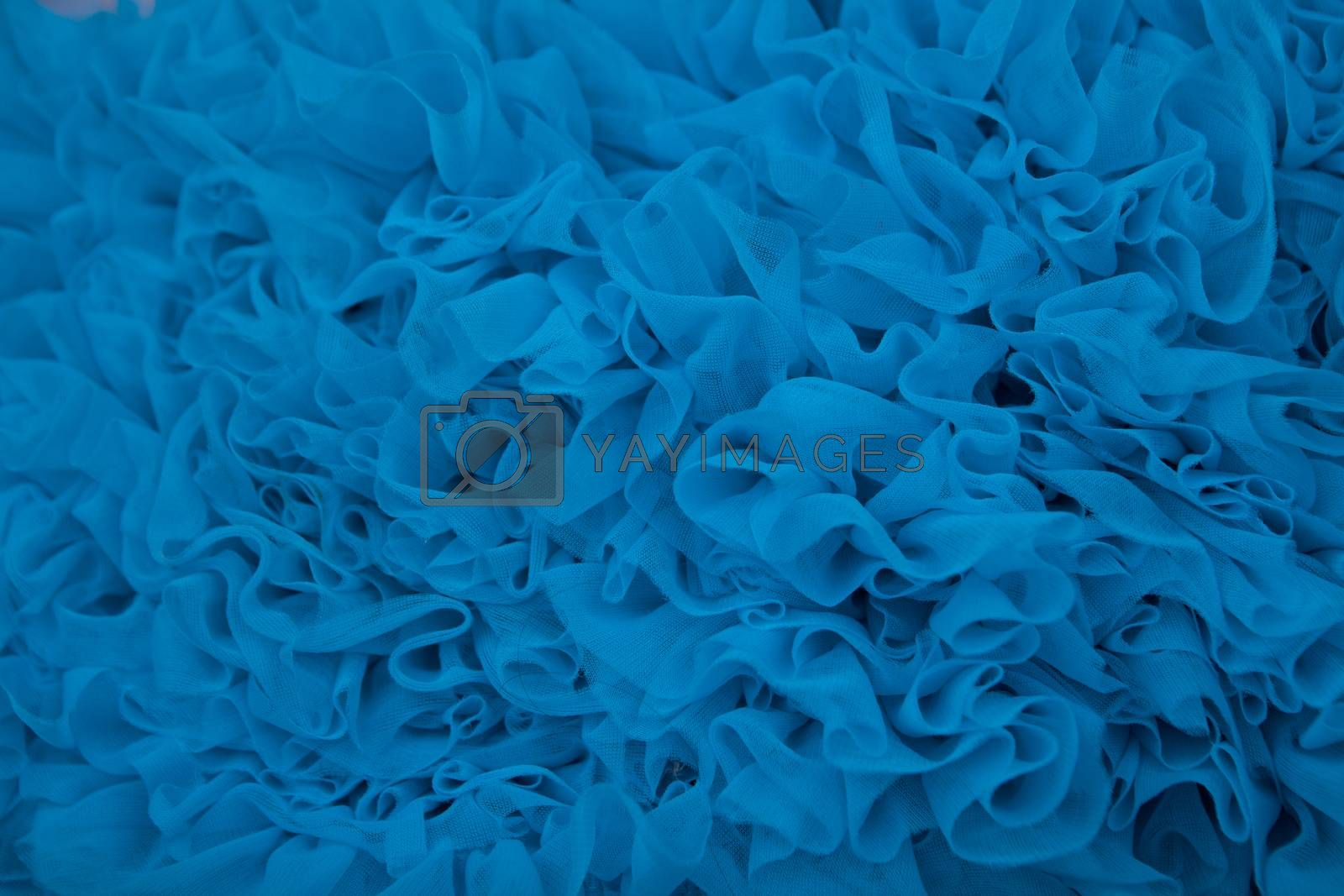 blue textured net fabric background