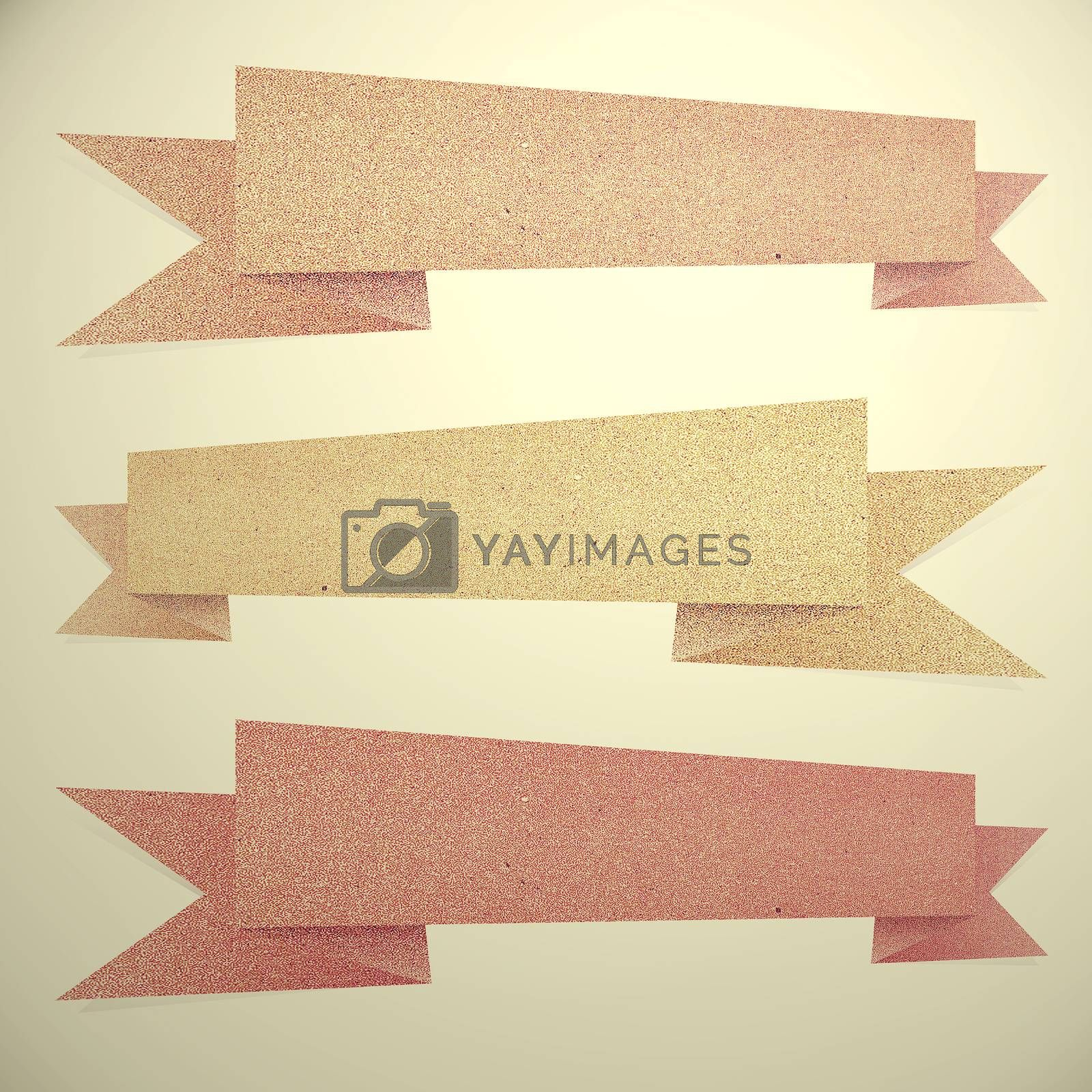 Vintage Paper texture ,Header tag recycled paper on white backgr by jakgree
