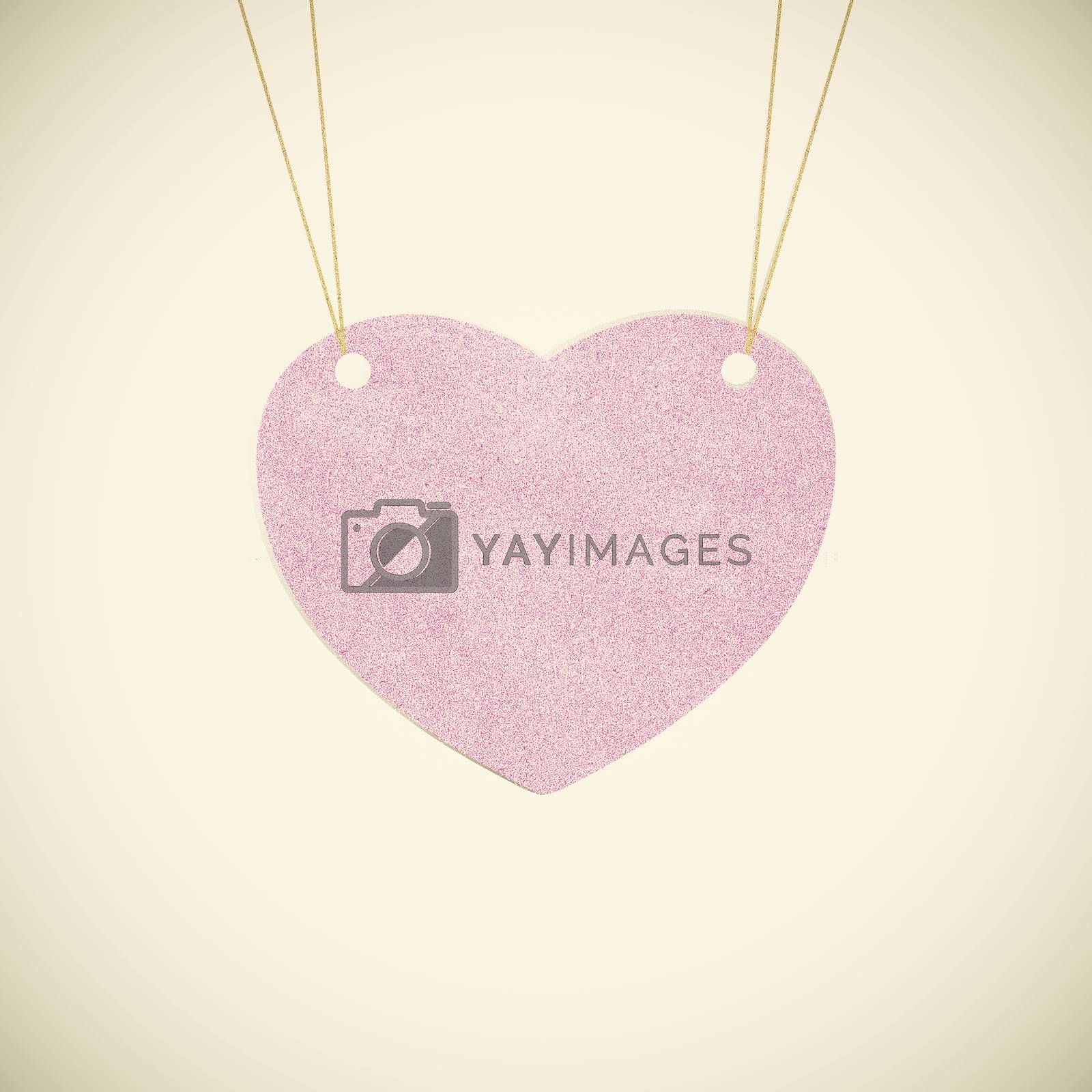Recycle paper Valentine heart  hanging labels. by jakgree
