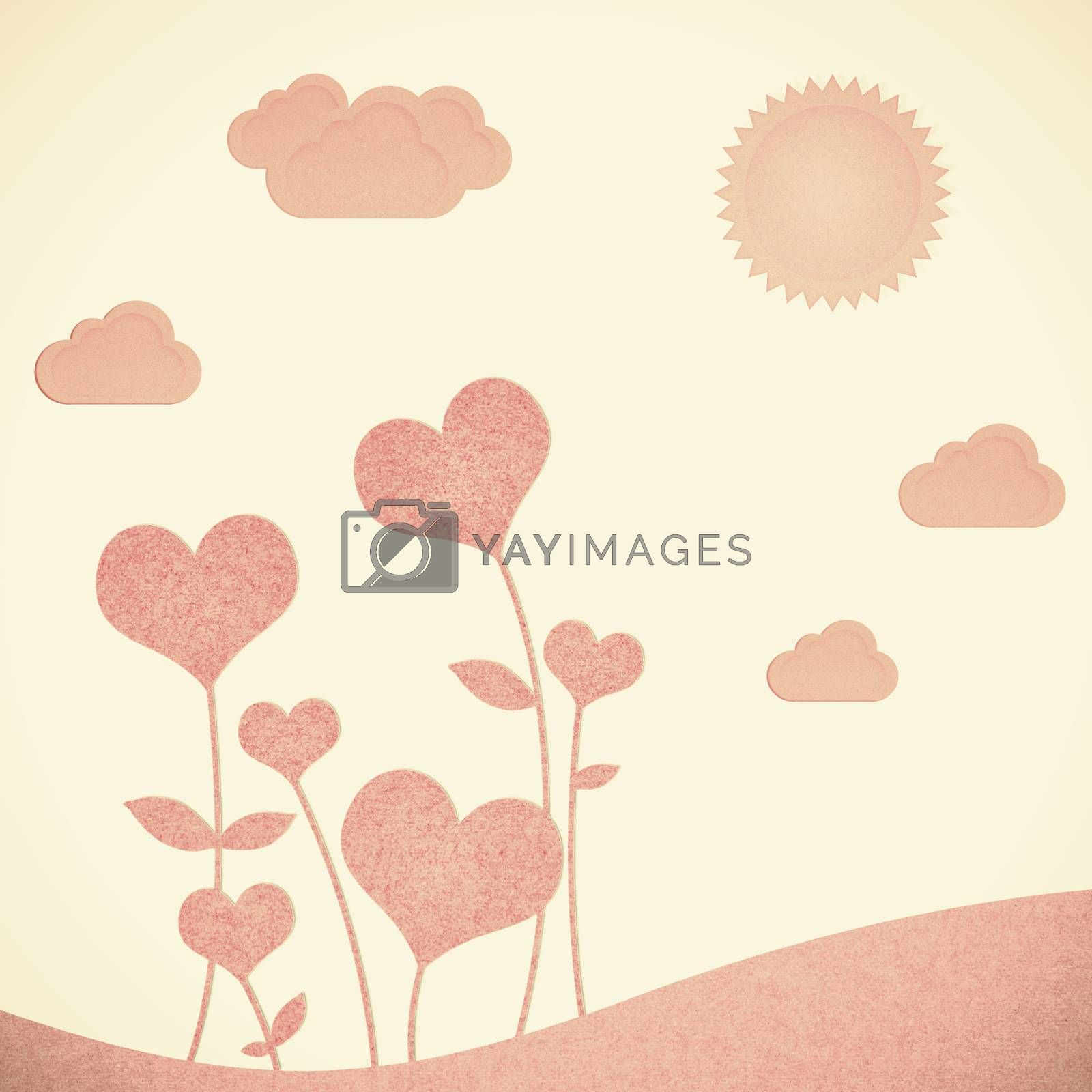 Recycle paper valentine flower background for romance, wedding a by jakgree