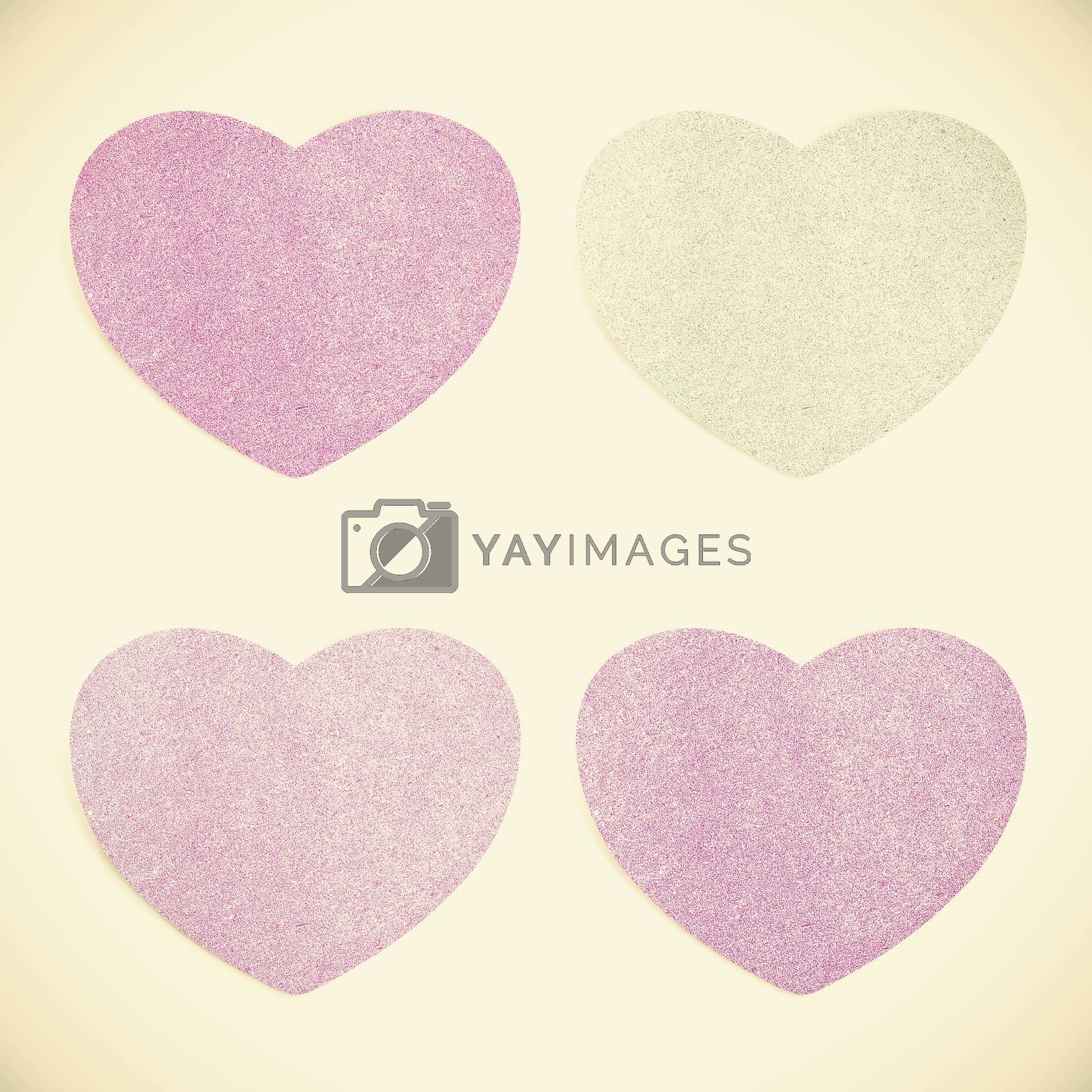 Old Paper texture ,heart on vintage tone  background by jakgree