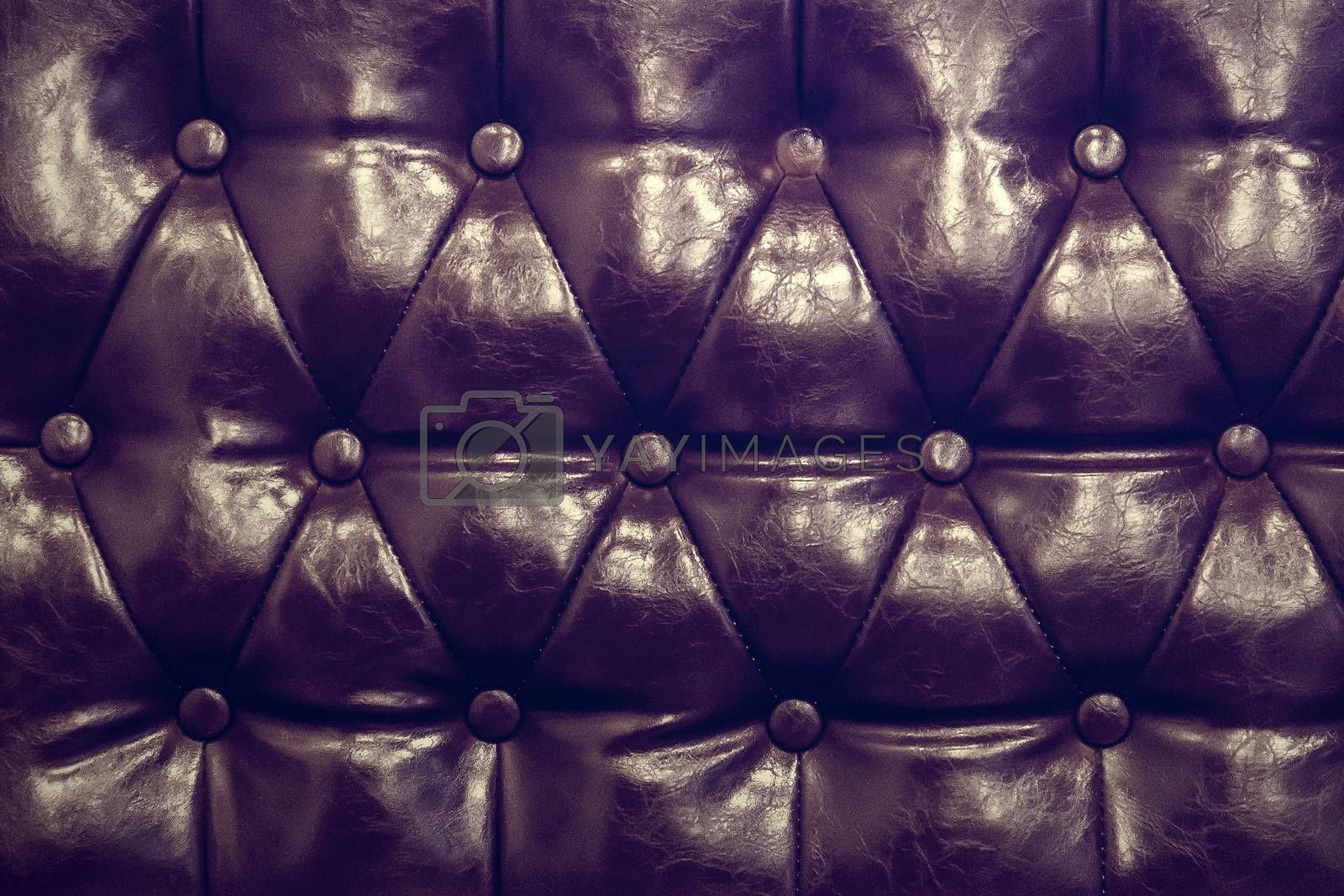 Vintage leather texture of sofa closeup shot by jakgree