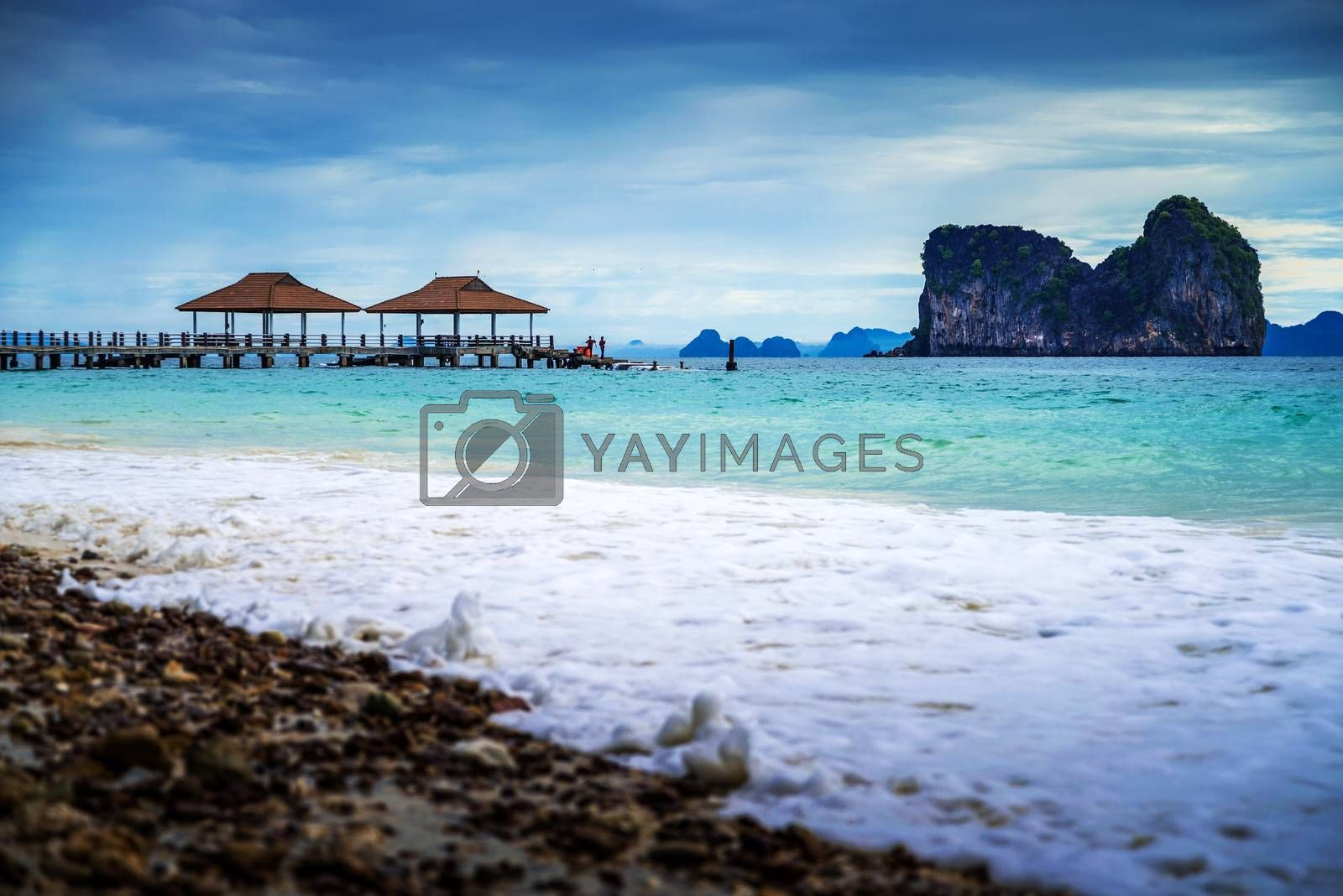Andaman sea View in Koh Ngai Island in Thailand by jakgree