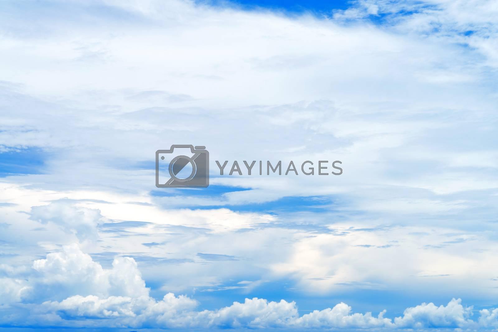 Sky background with tiny clouds by jakgree