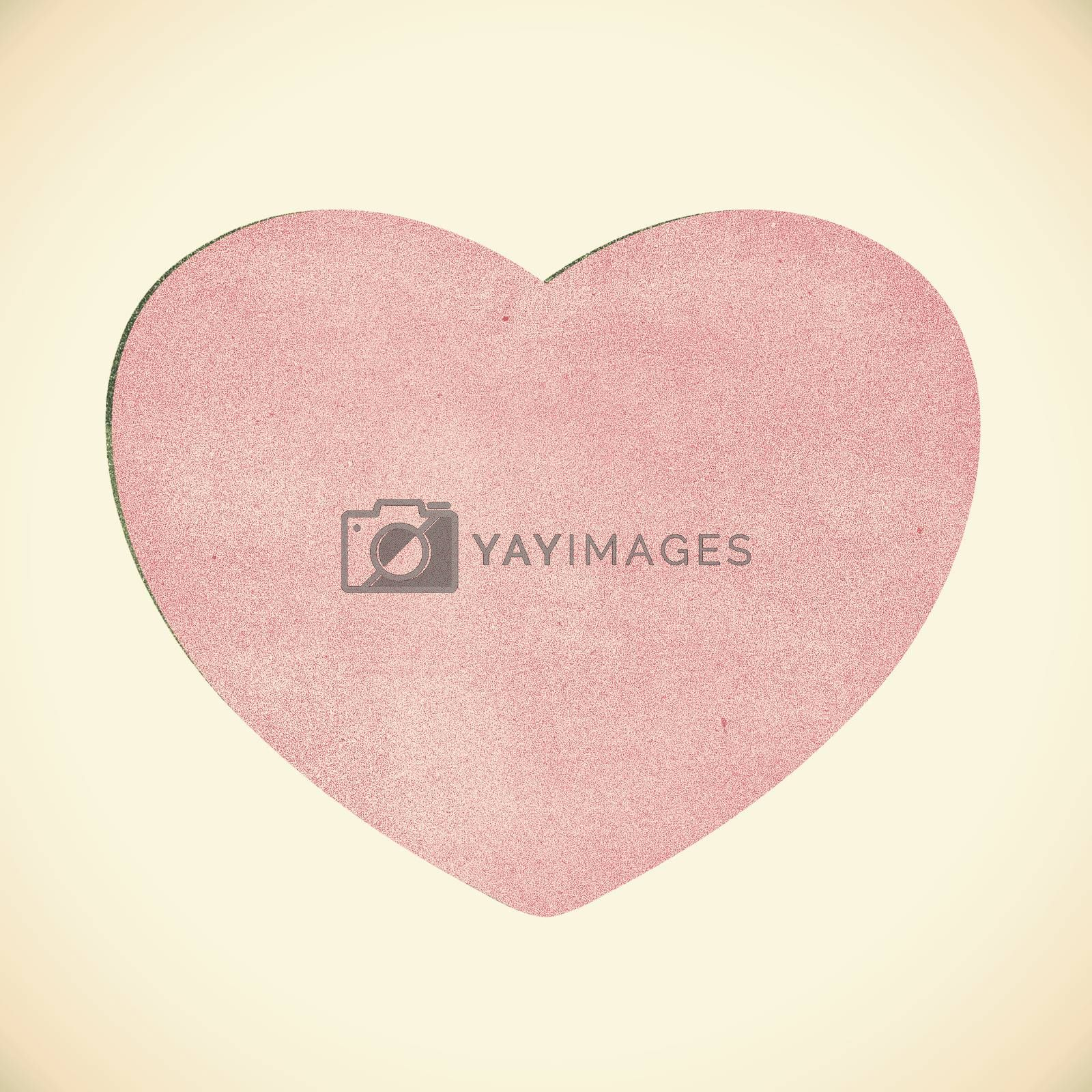 Vintage heart recycled paper on white background by jakgree