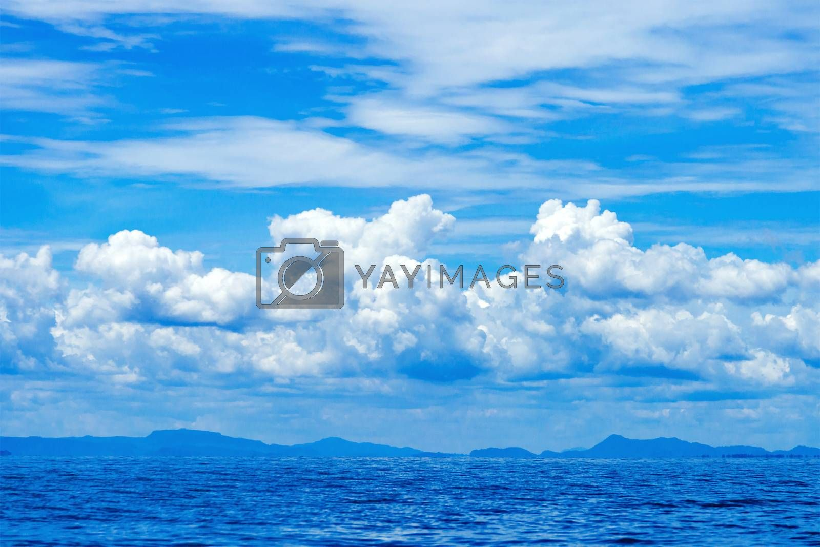 Beautiful blue sky sea view by jakgree