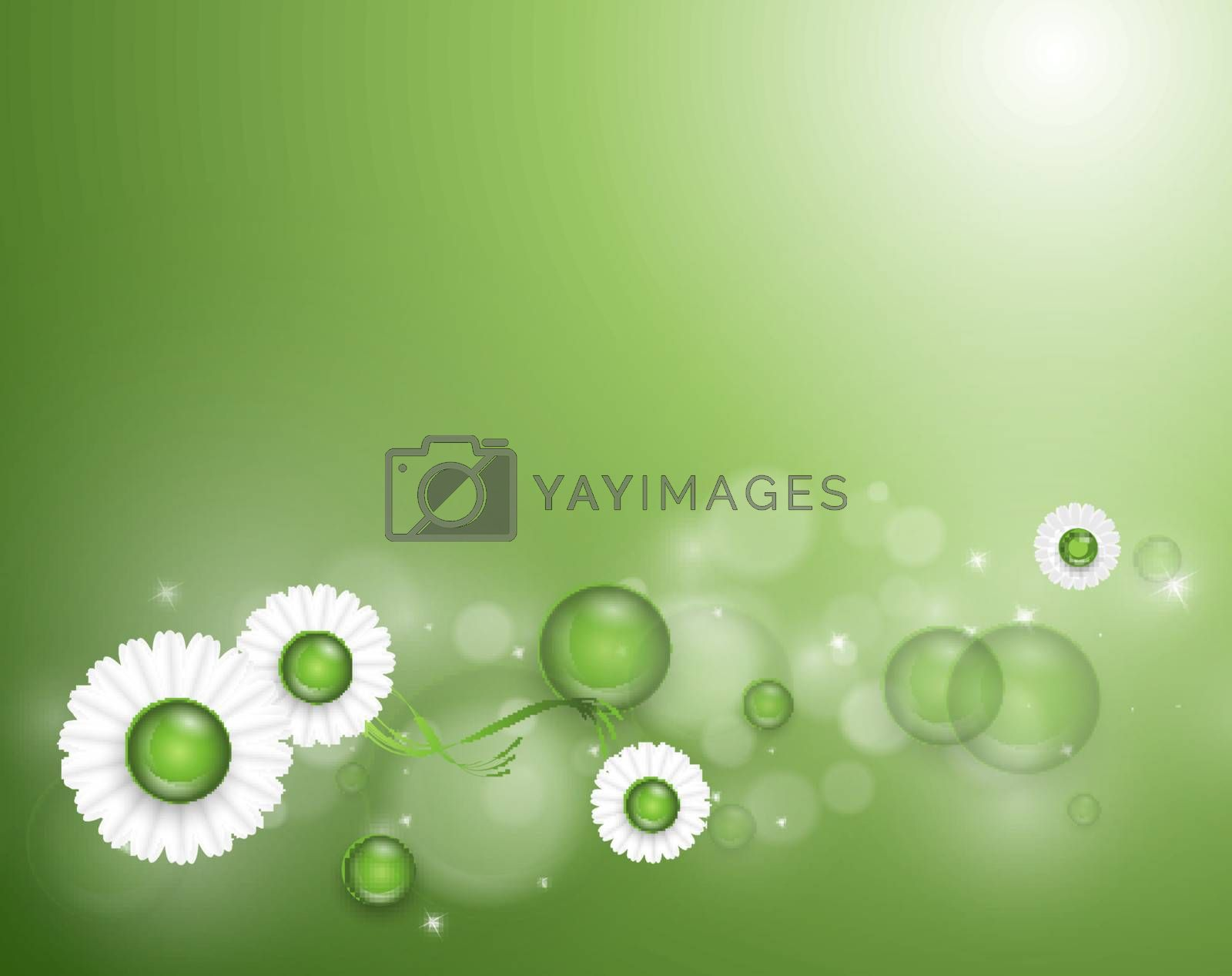Vector abstract summer time background by marivlada