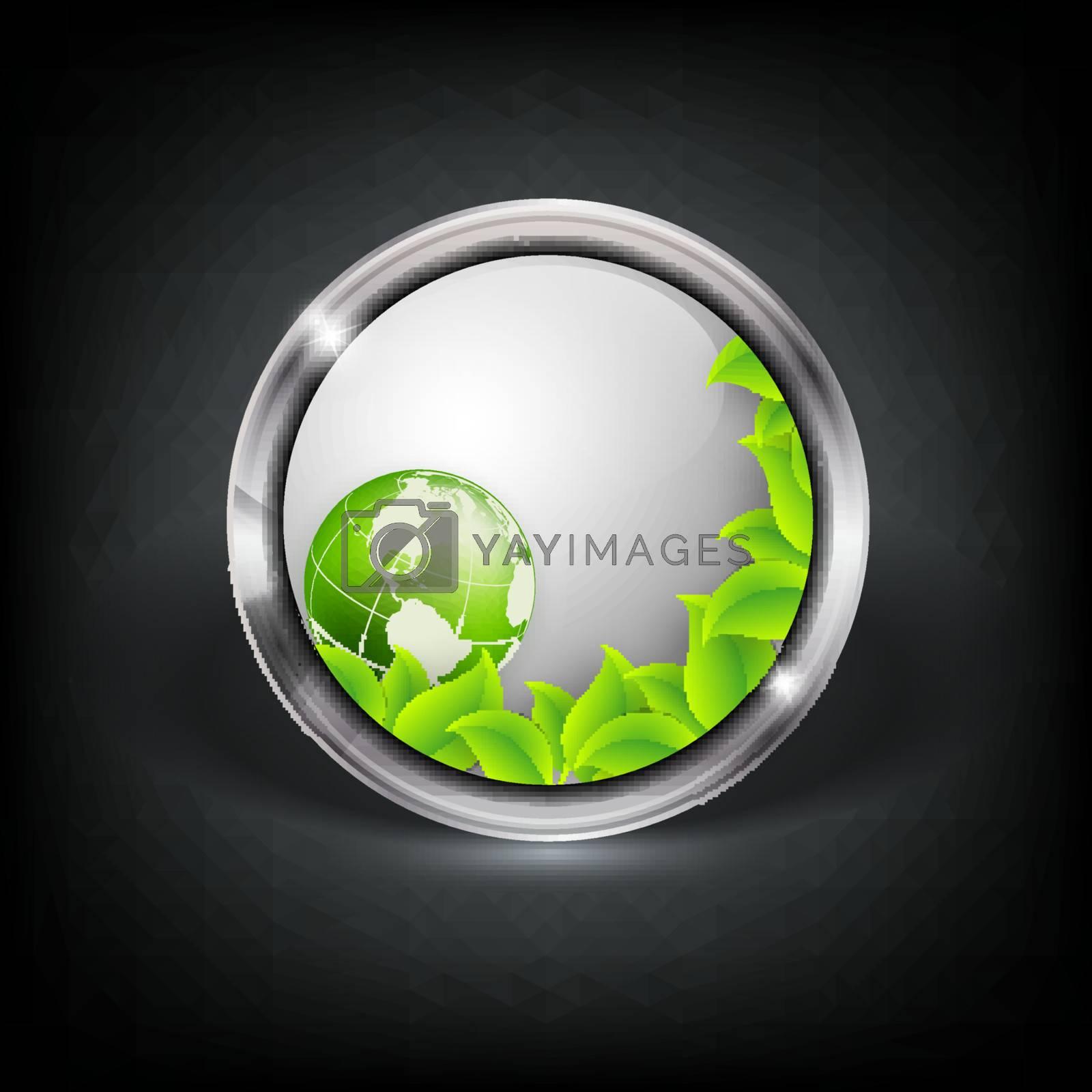 Vector web button with metallic border by marivlada