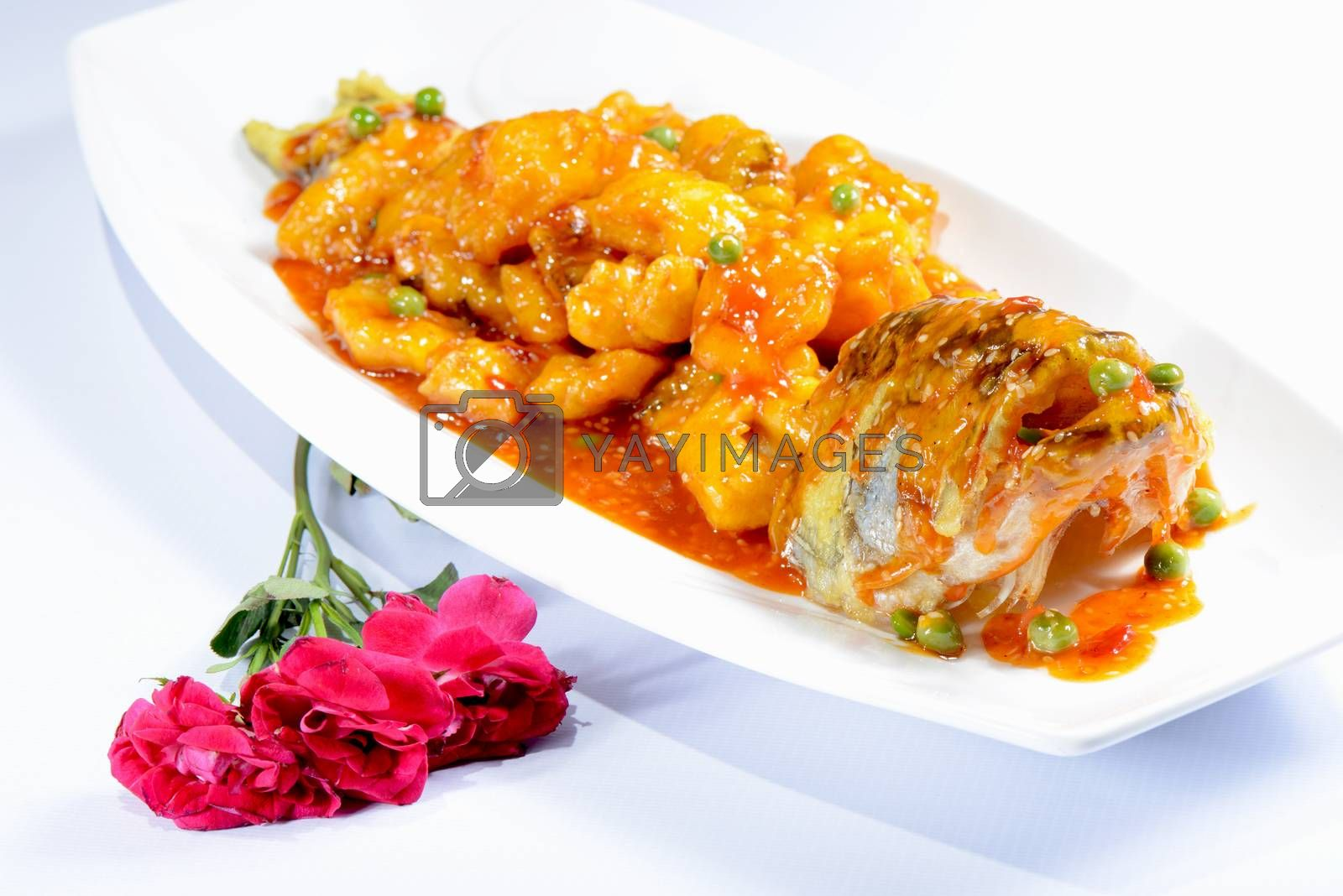 Chinese Food: Sweet and Sour Perch by bbbar