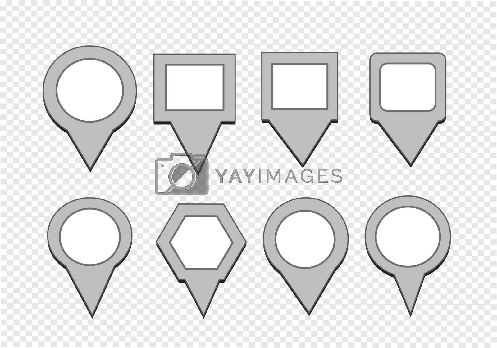 map pointers mapping pins icon by kiddaikiddee