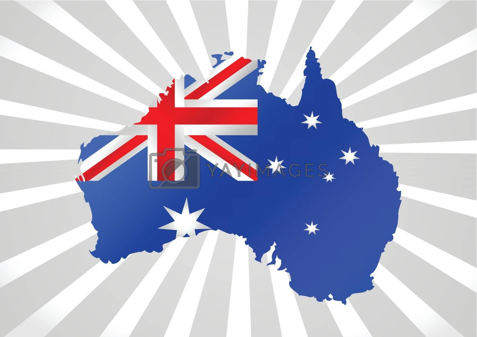 Map and flag of Australia idea design by kiddaikiddee