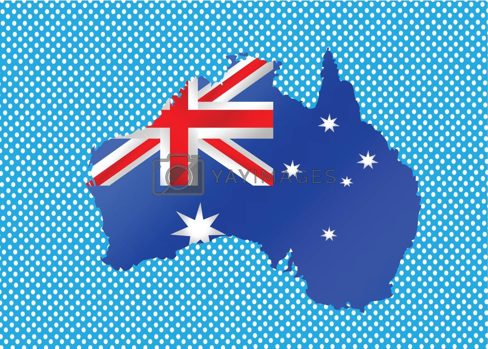 Map and flag of Australia idea design by kiddaikiddee
