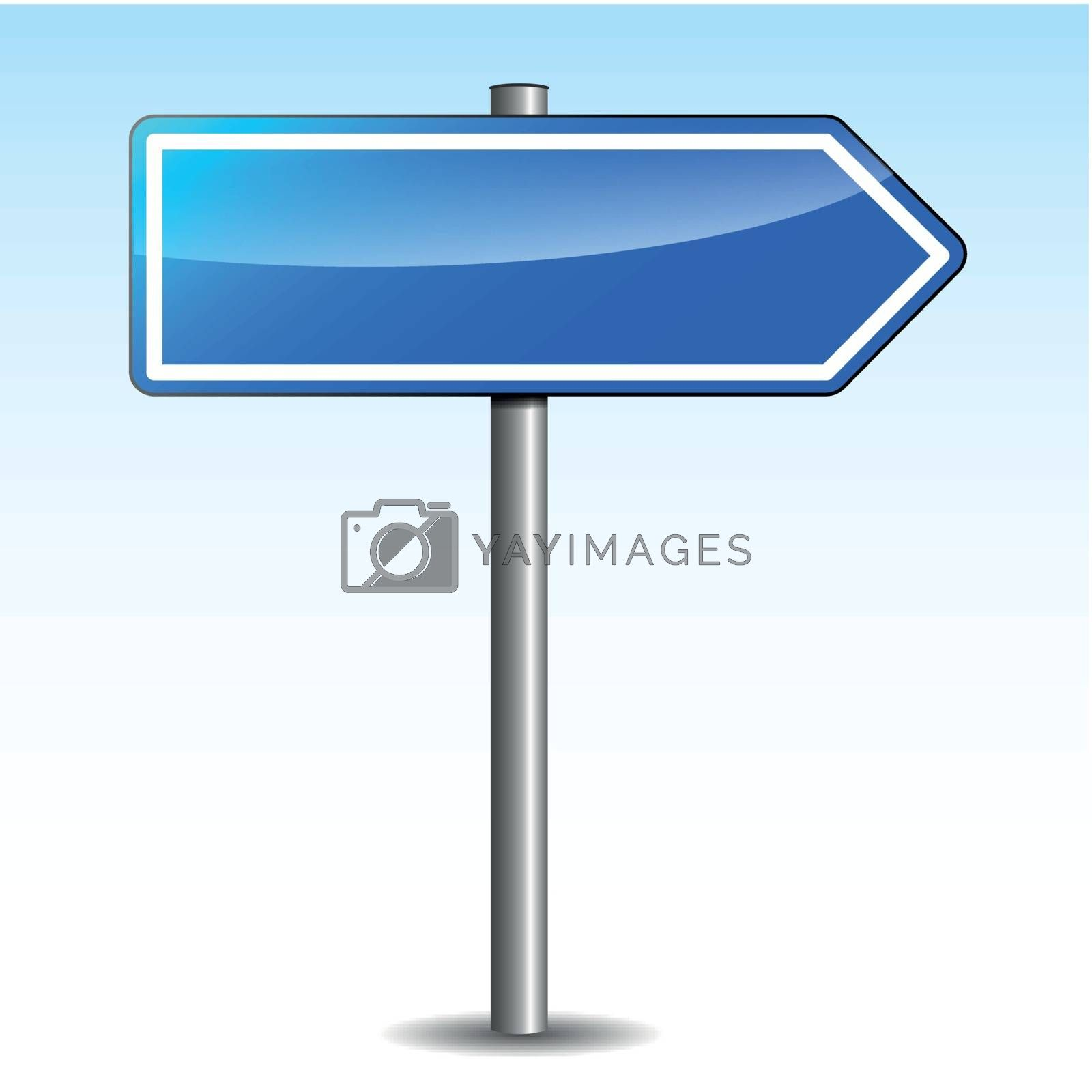 Vector blue directional signpost by nickylarson974