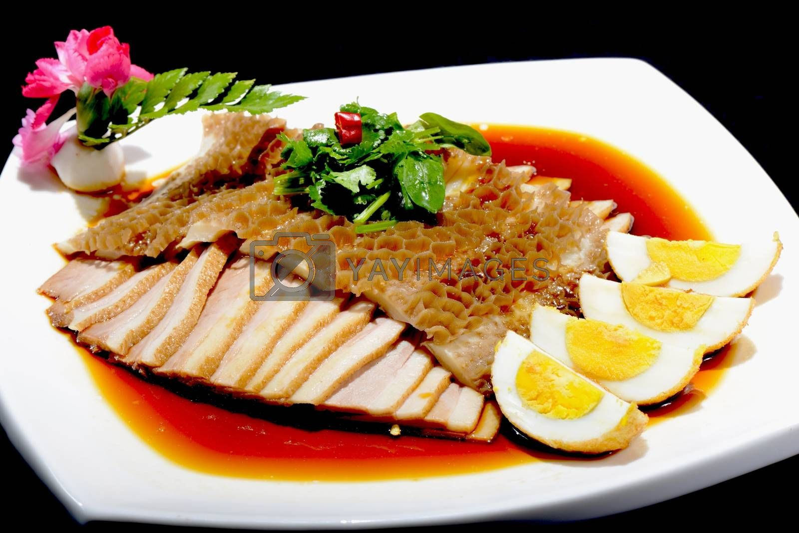Chinese Food: Salad made of Pork and Eggs by bbbar