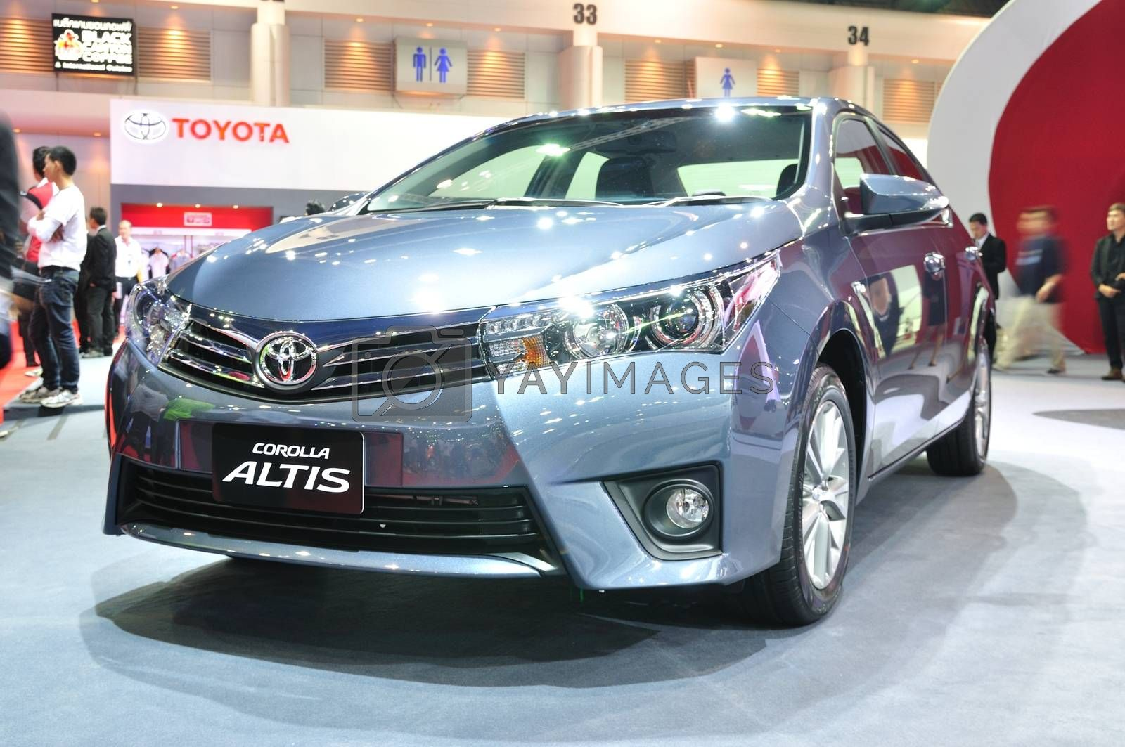 NONTHABURI - MARCH 25:ToyoTa Alits on display at The 35th Bangko by thampapon
