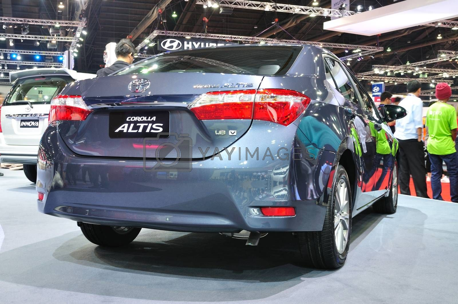 NONTHABURI - MARCH 25:ToyoTa Alits Esport is ondiisplay at The 3 by thampapon