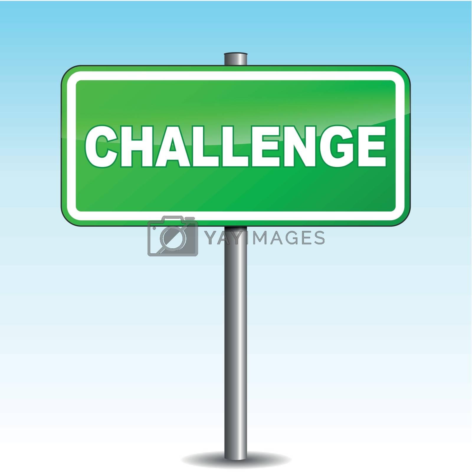 Vector challenge signpost by nickylarson974