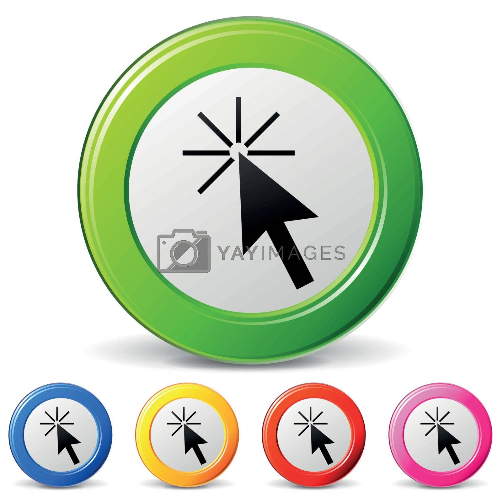 Vector click icons by nickylarson974