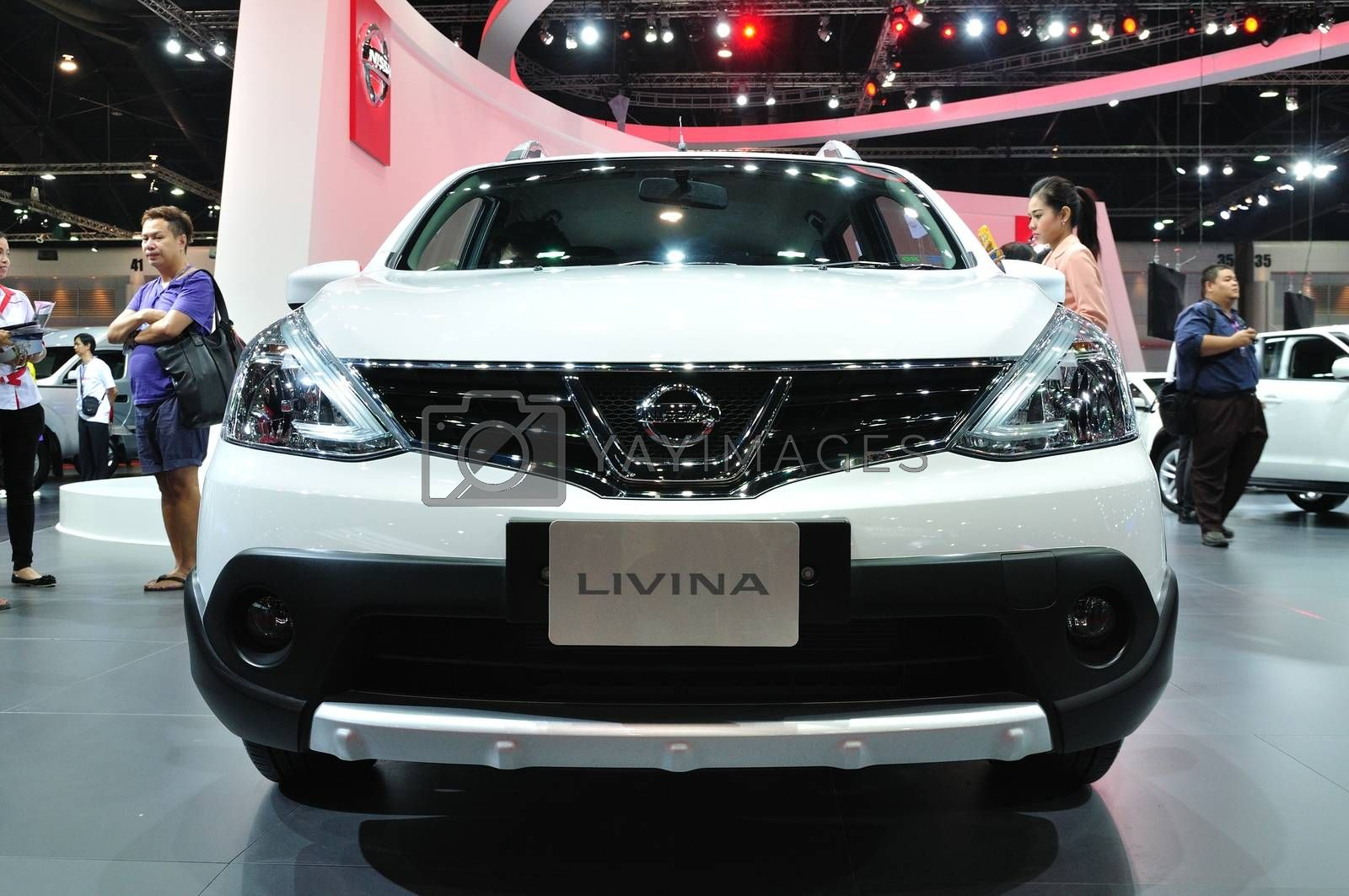 NONTHABURI - MARCH 25: New Nissan Livina on display at The 35th  by thampapon