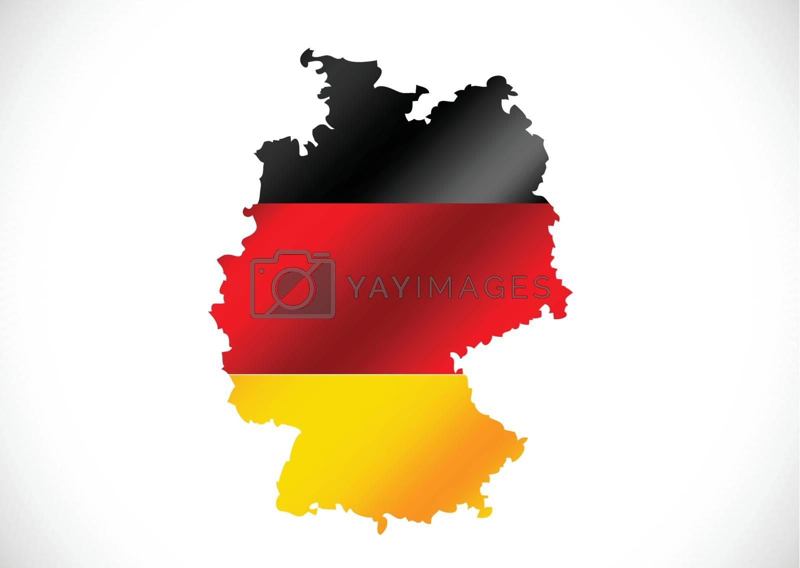 Germany map and flag idea design by kiddaikiddee