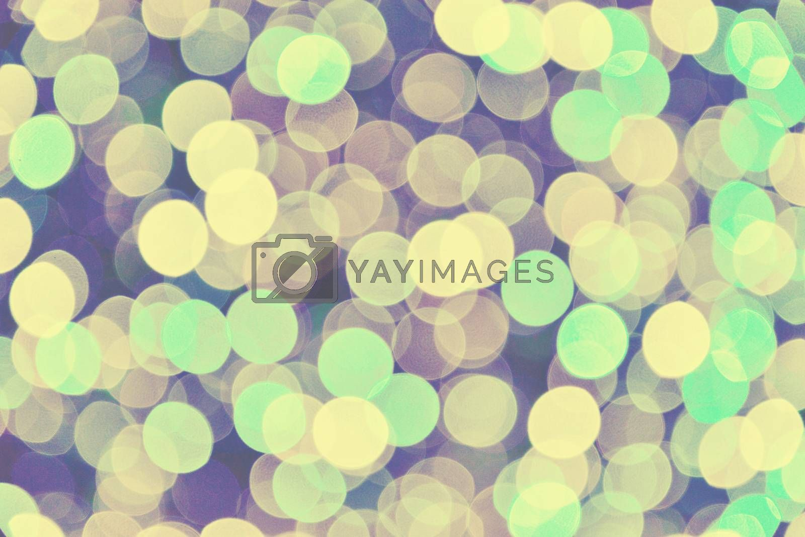 Abstract circular vintage bokeh background by jakgree