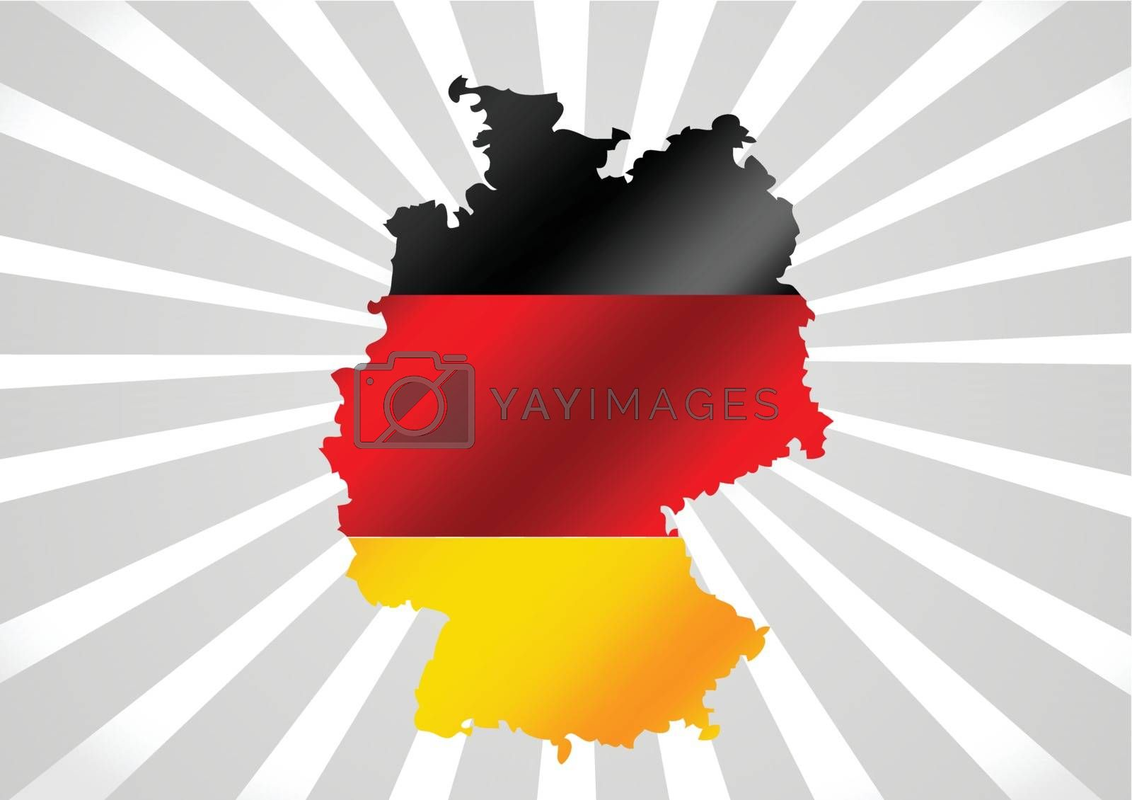 Germany map and flag idea design by kiddaikiddee