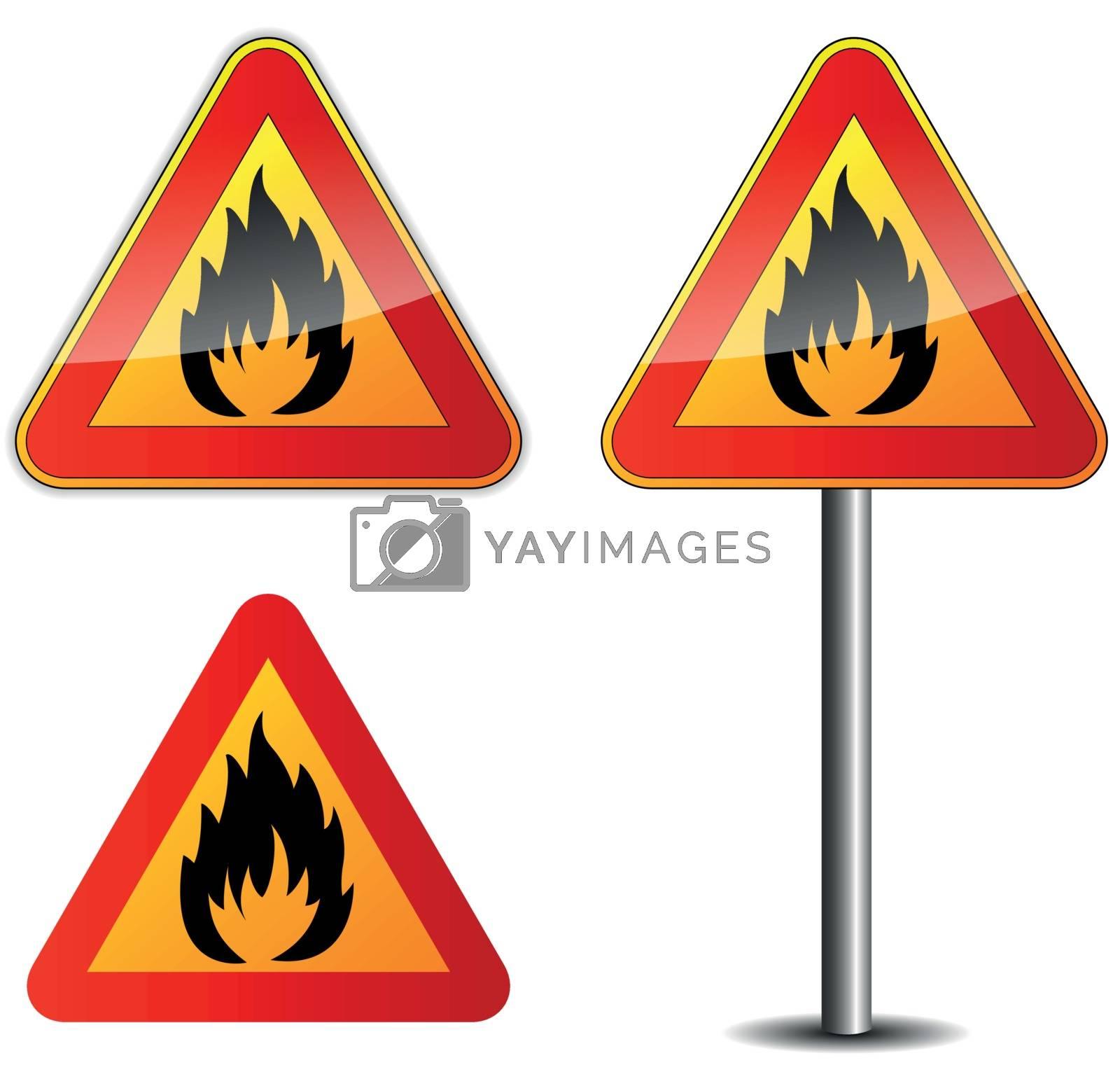 Vector fire signpost by nickylarson974
