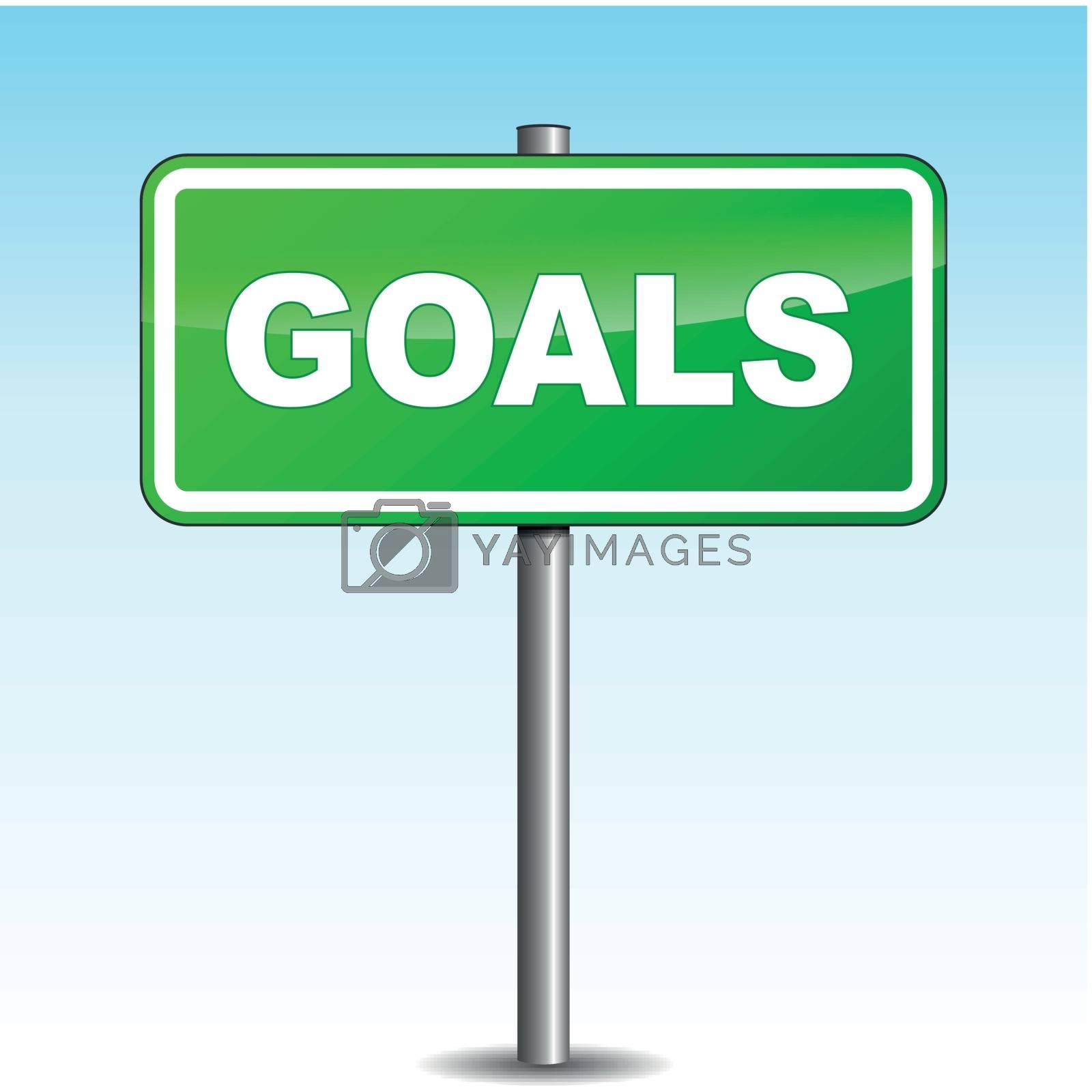 Vector goals signpost by nickylarson974