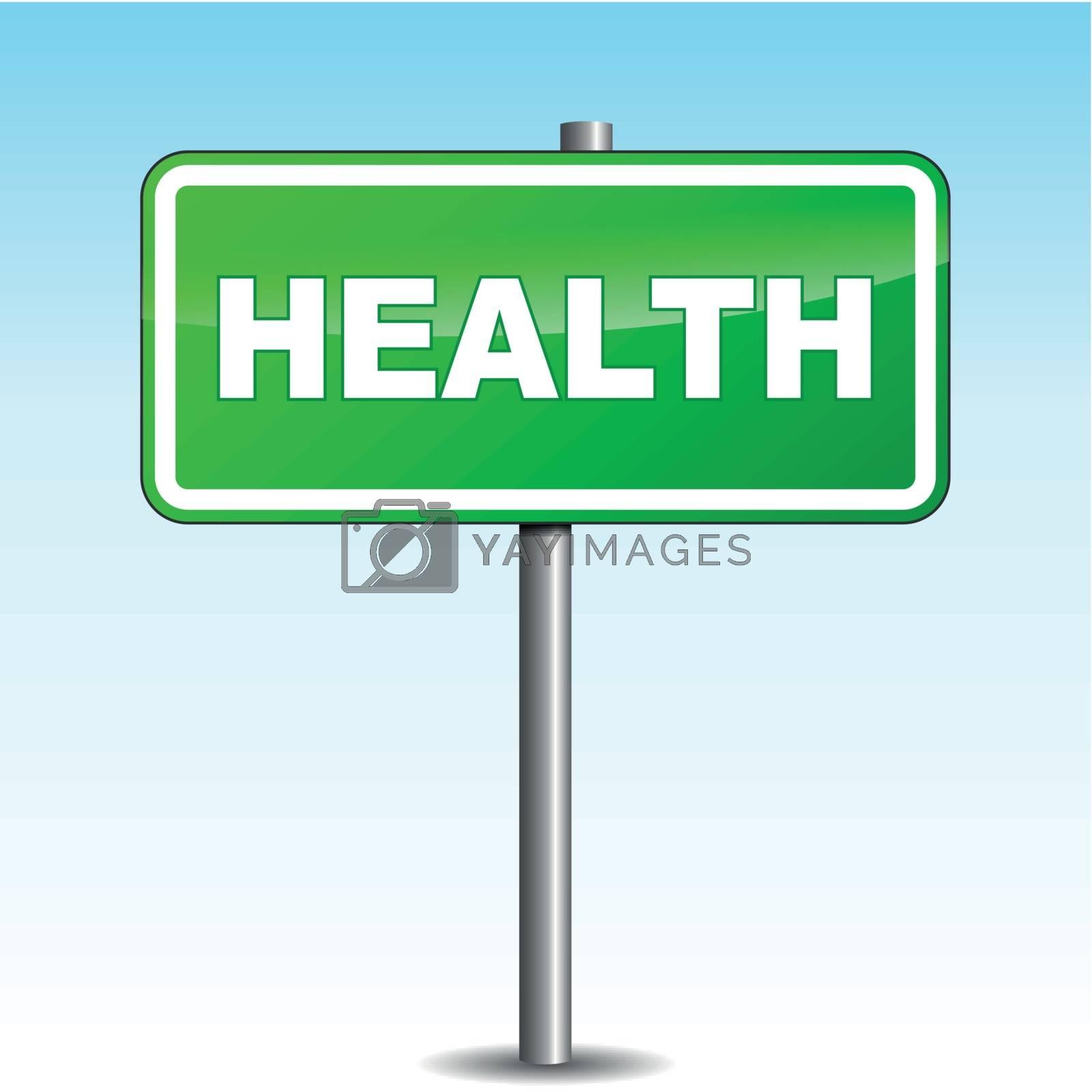 Vector health signpost by nickylarson974