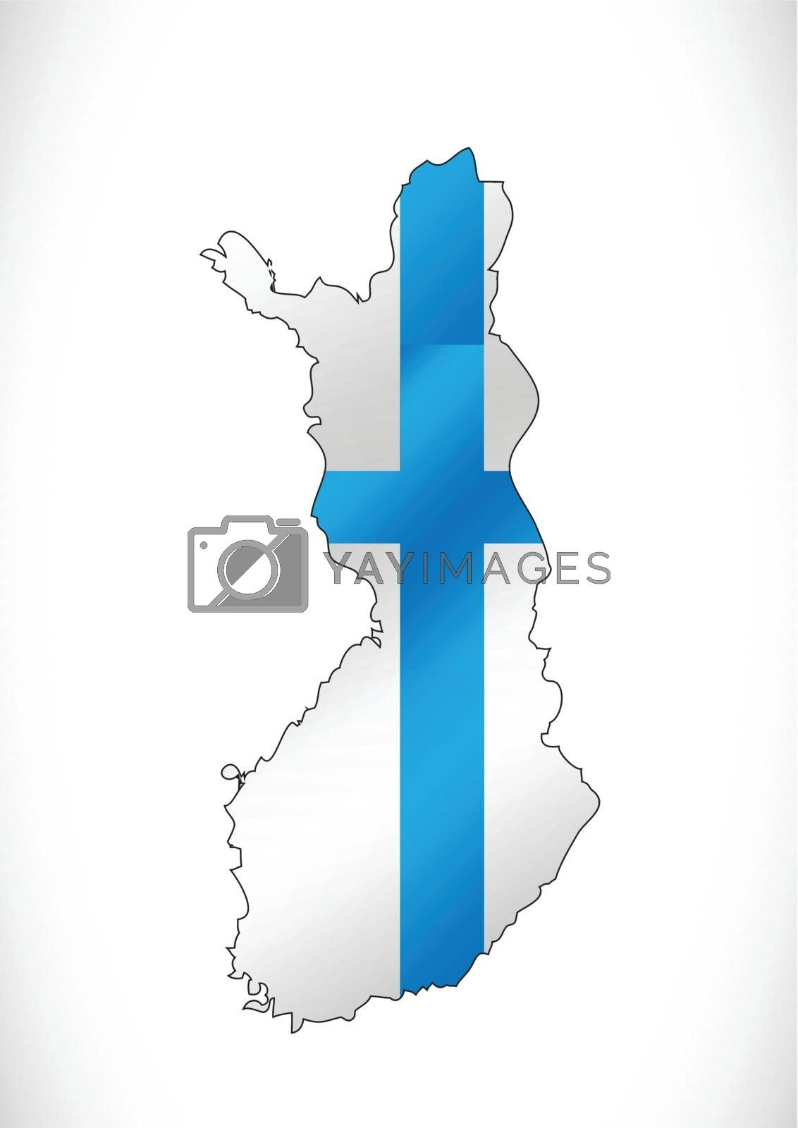Finland map and flag idea design by kiddaikiddee