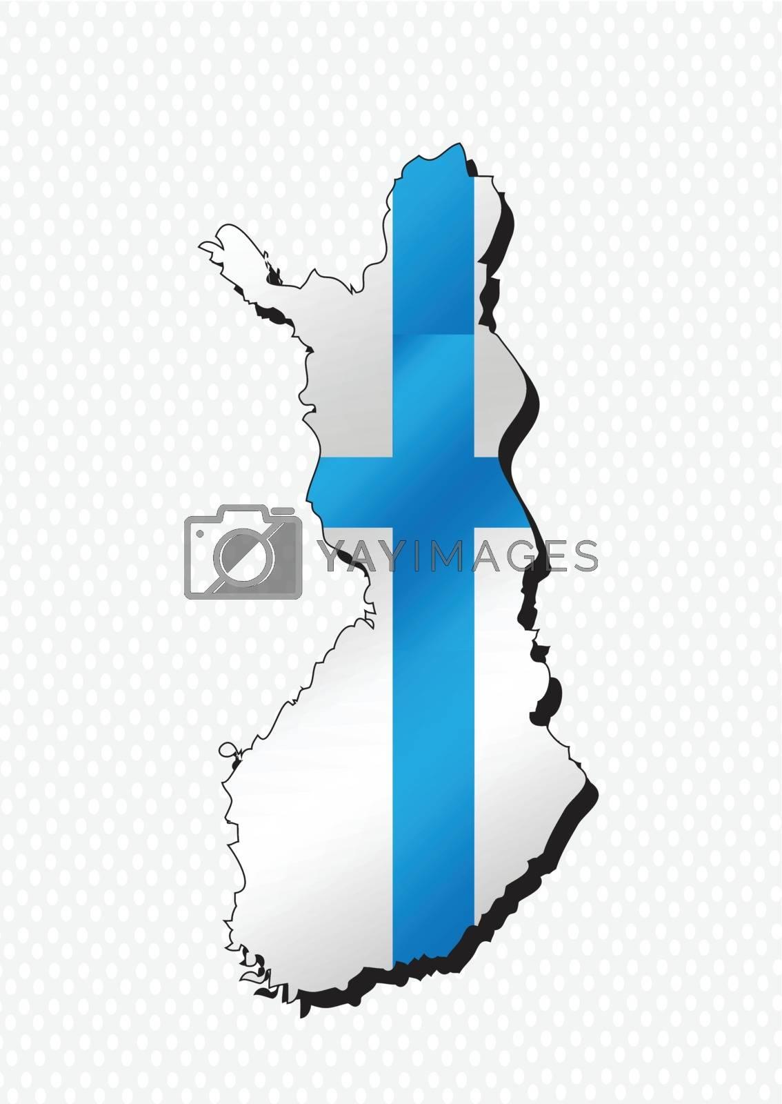 Finland map and flag idea design by kiddaikiddee