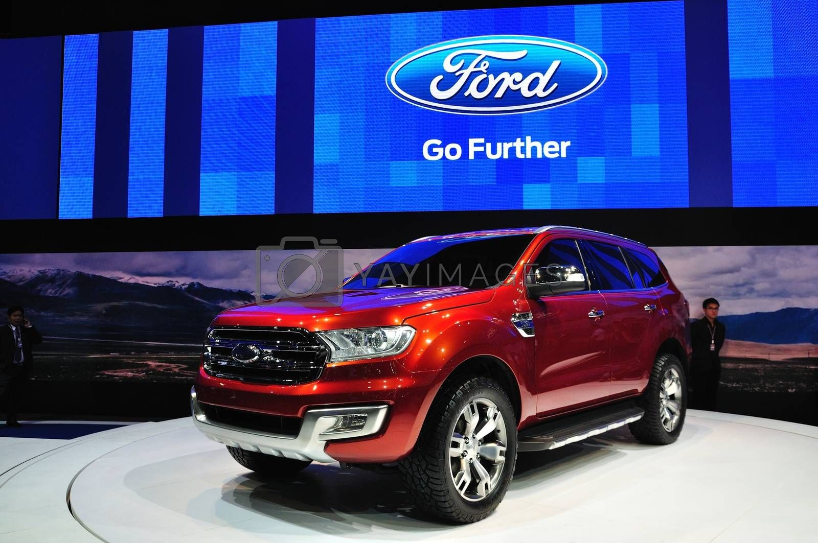 NONTHABURI - March 25: New Ford Everest on display at The 35th B by thampapon