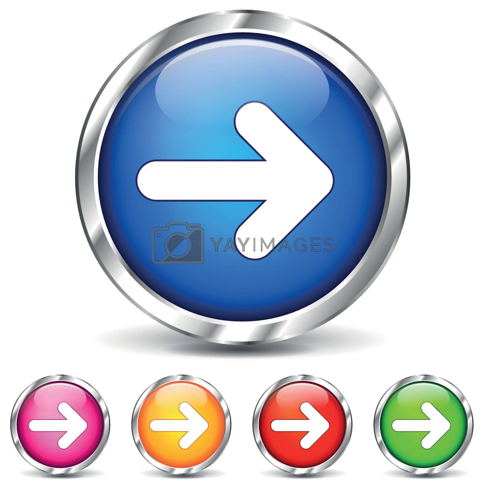 Vector chrome arrows icons by nickylarson974