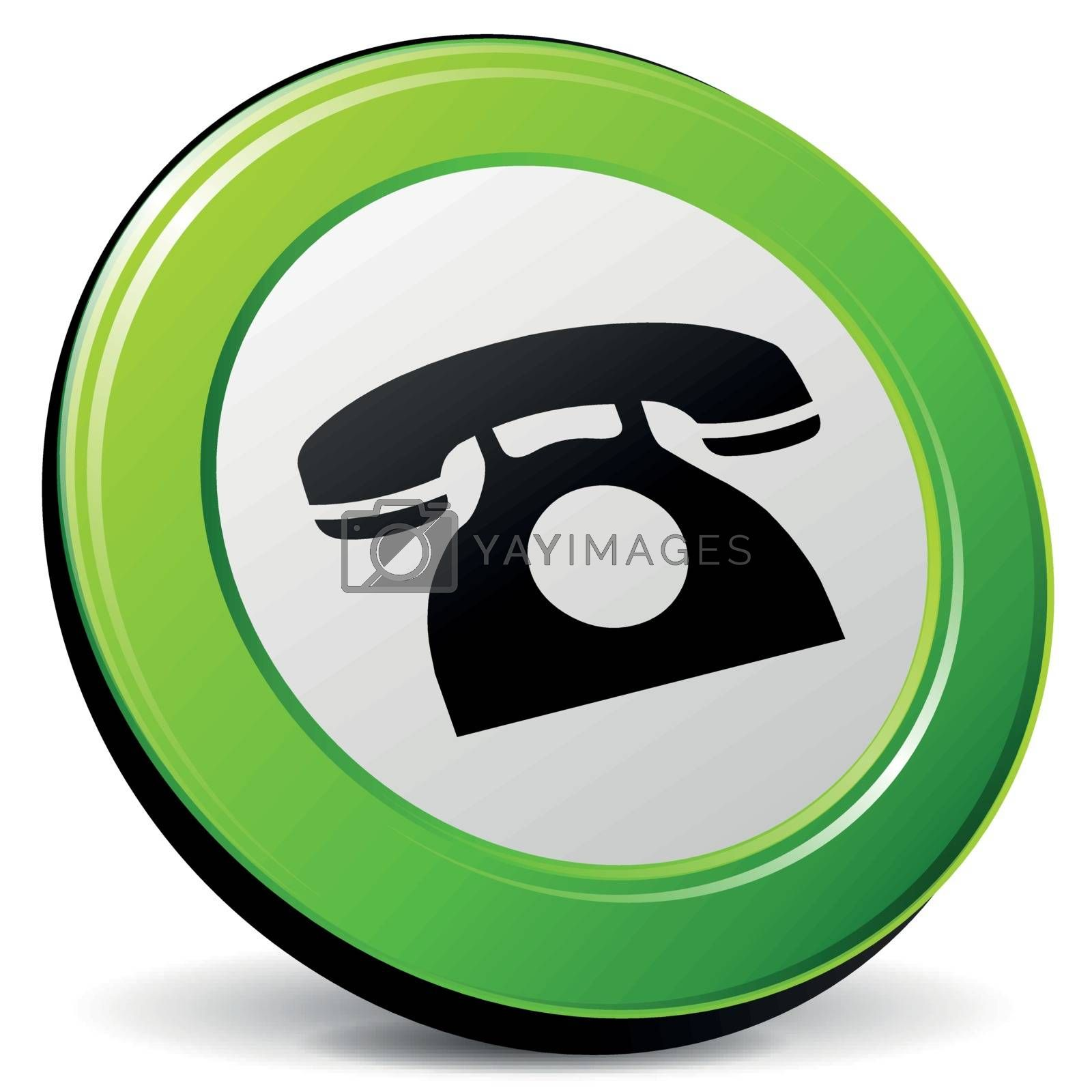 Vector old phone icon 3d by nickylarson974