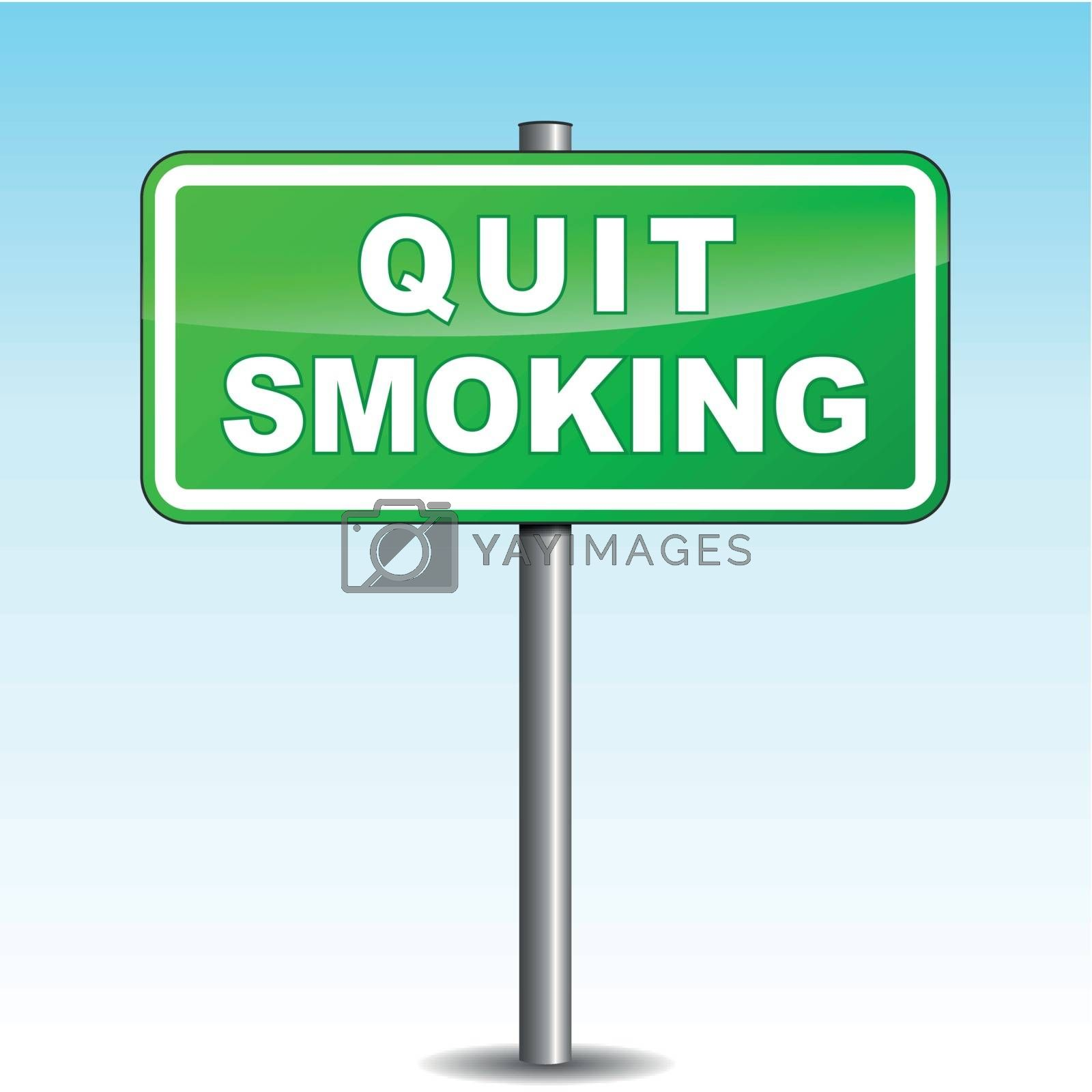 Vector quit smoking signpost by nickylarson974